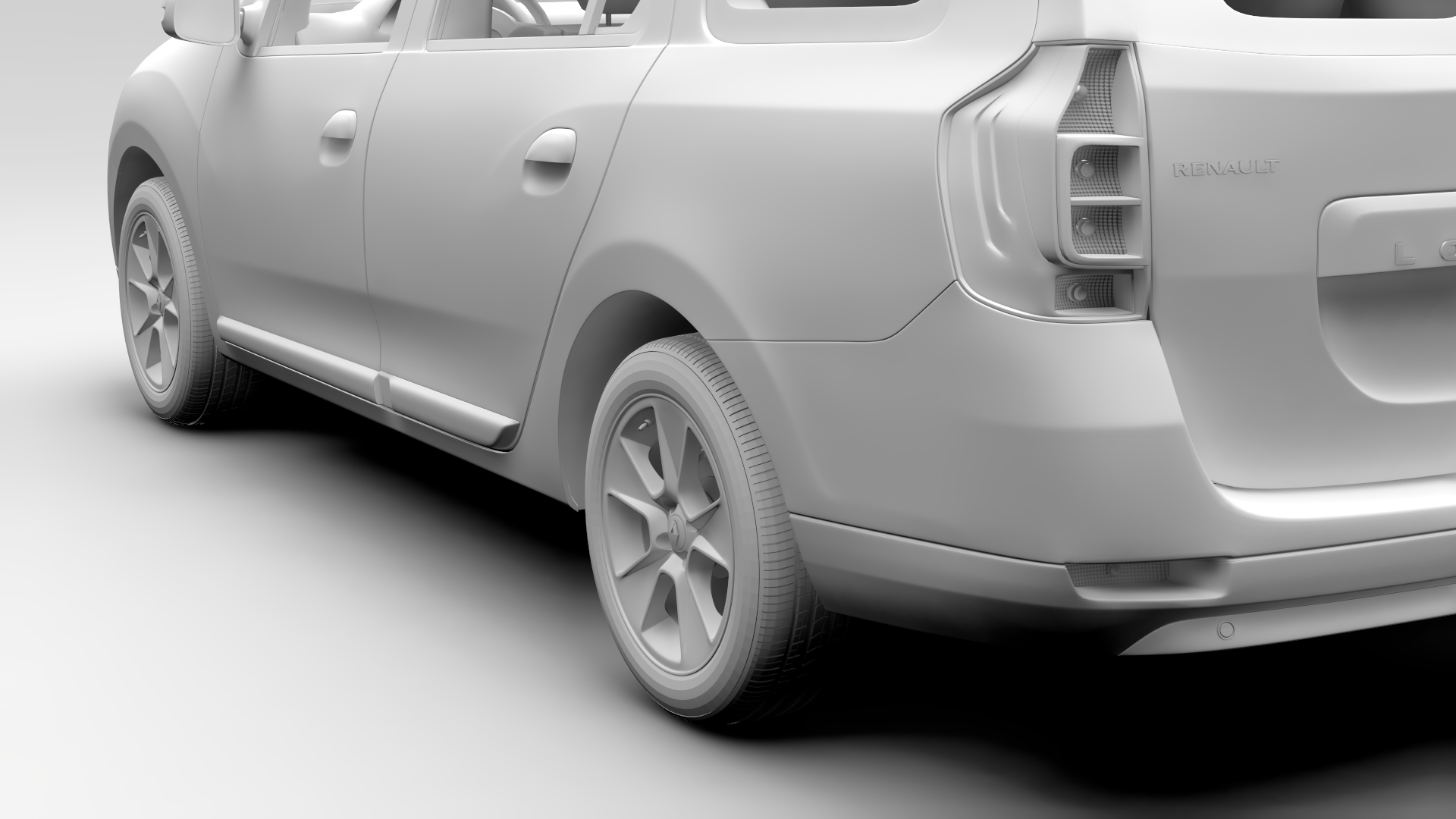 renault logan mcv taxi 2016 3d model 3ds max fbx c4d lwo ma mb hrc xsi obj 221293