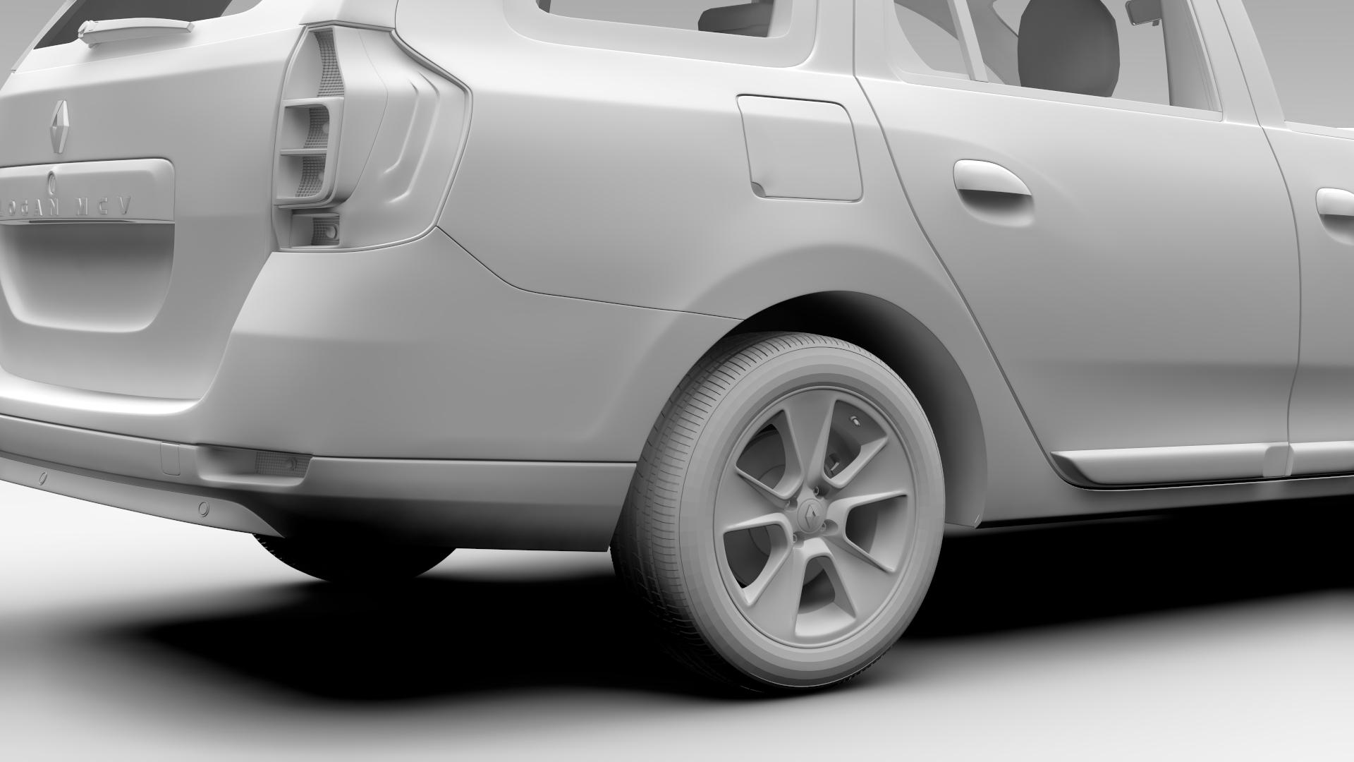renault logan mcv taxi 2016 3d model 3ds max fbx c4d lwo ma mb hrc xsi obj 221295