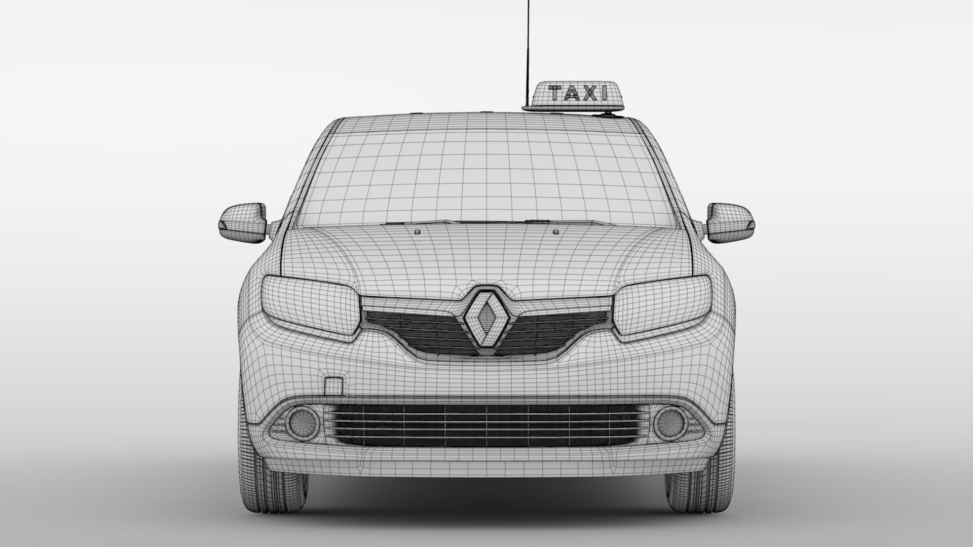renault logan mcv taxi 2016 3d model 3ds max fbx c4d lwo ma mb hrc xsi obj 221298