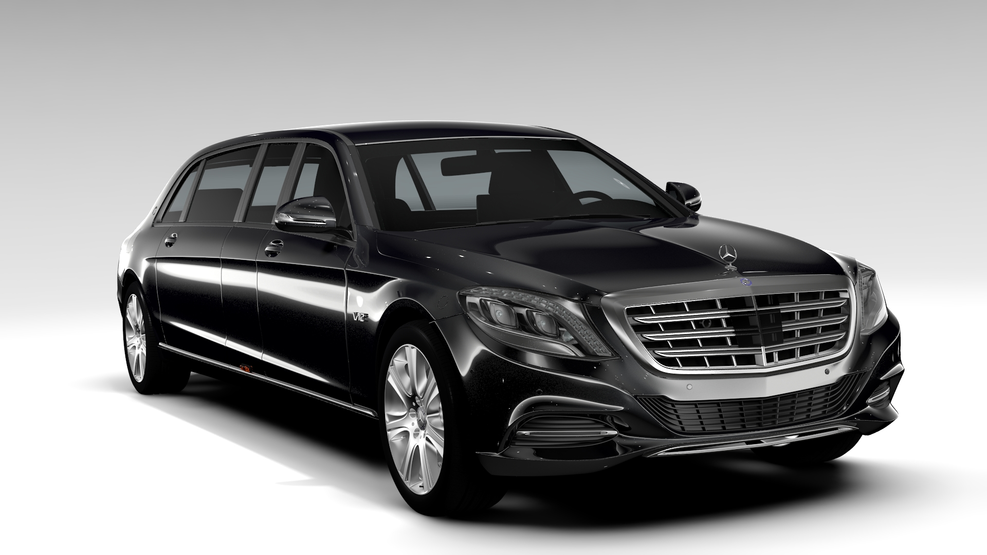 mercedes maybach pullman guard 2017 3d model 3ds max fbx c4d lwo ma mb hrc xsi obj 221375