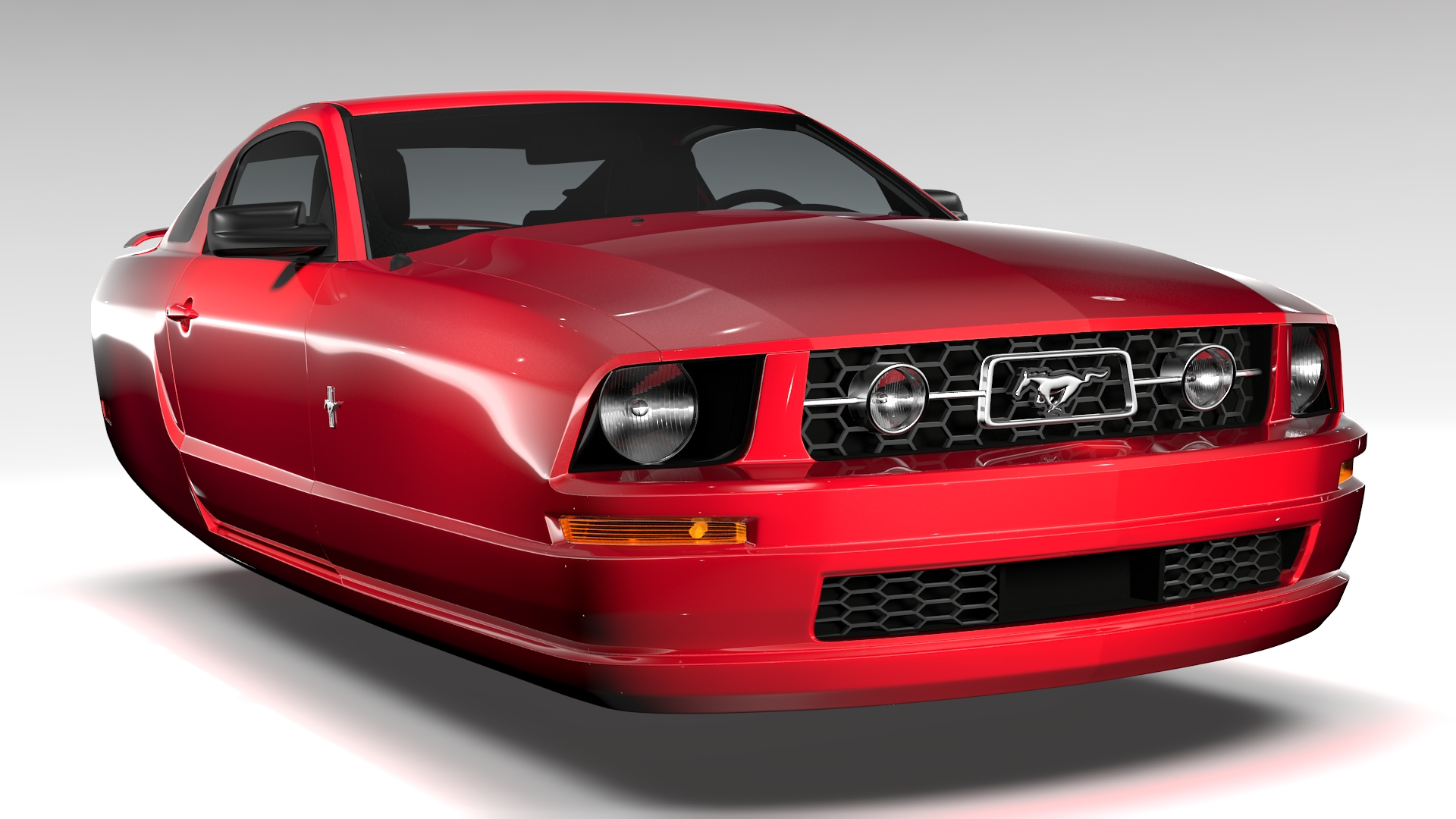 ford mustang v6 pony 2006 flying 3d model 3ds max fbx c4d lwo ma mb hrc xsi obj 221398