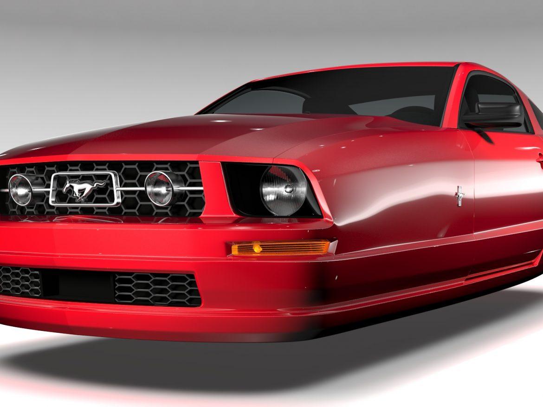 Ford Mustang v6 Pony 2006 Flying ( 661.21KB jpg by CREATOR_3D )
