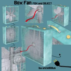 Box Fan FBX OBJ ( 537.21KB jpg by uncle808us )