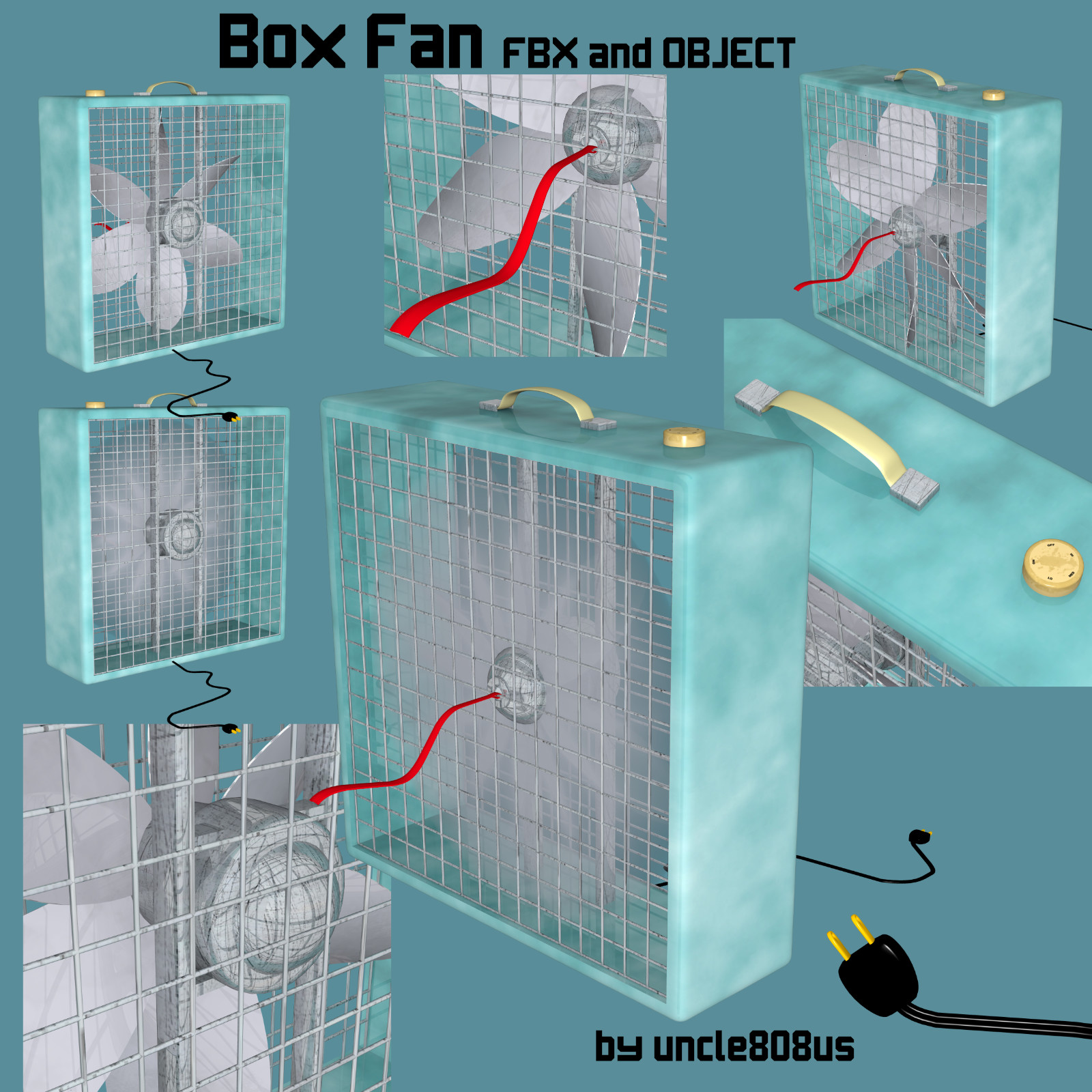 box fan fbx obj 3d model fbx 221423