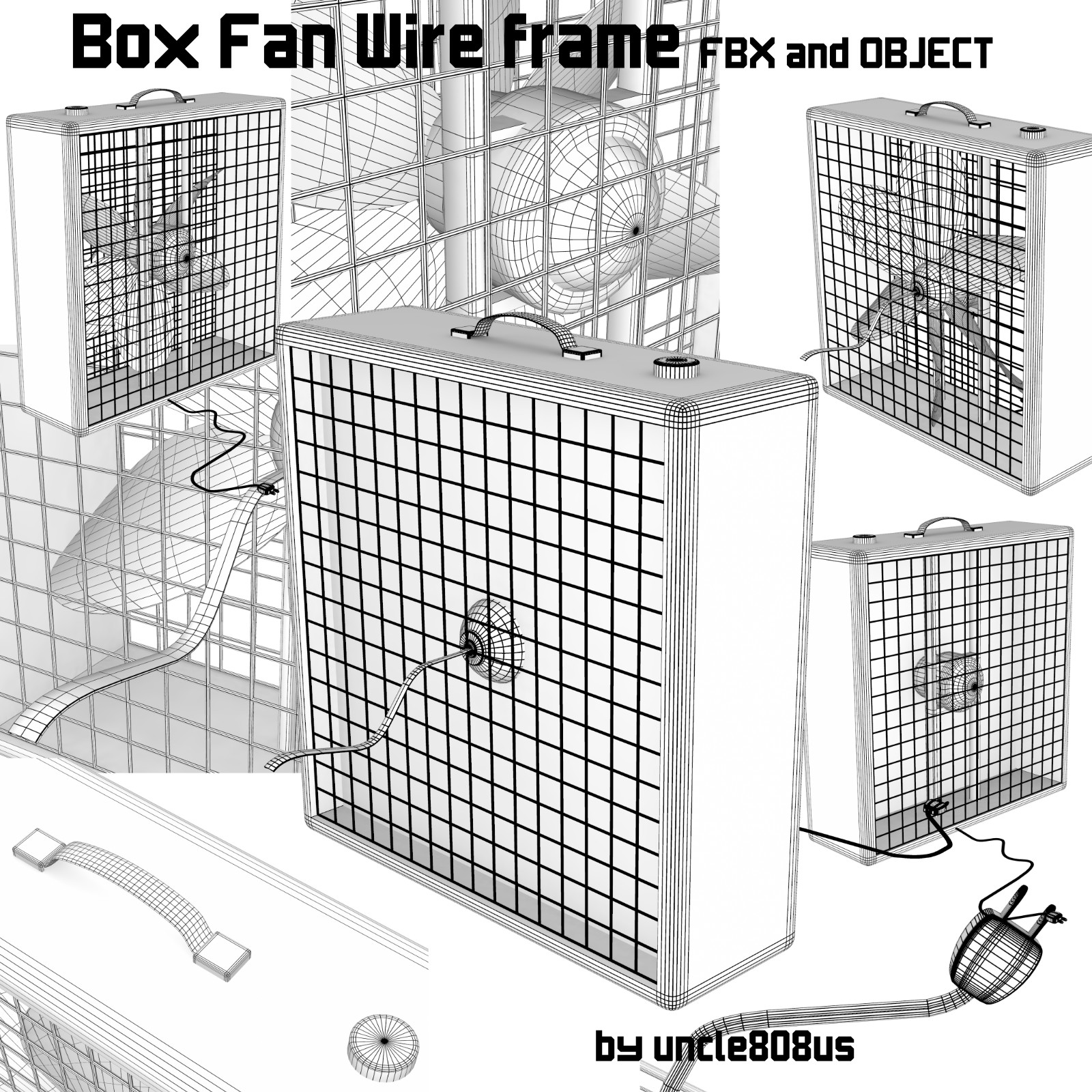 box fan fbx obj 3d model fbx 221424