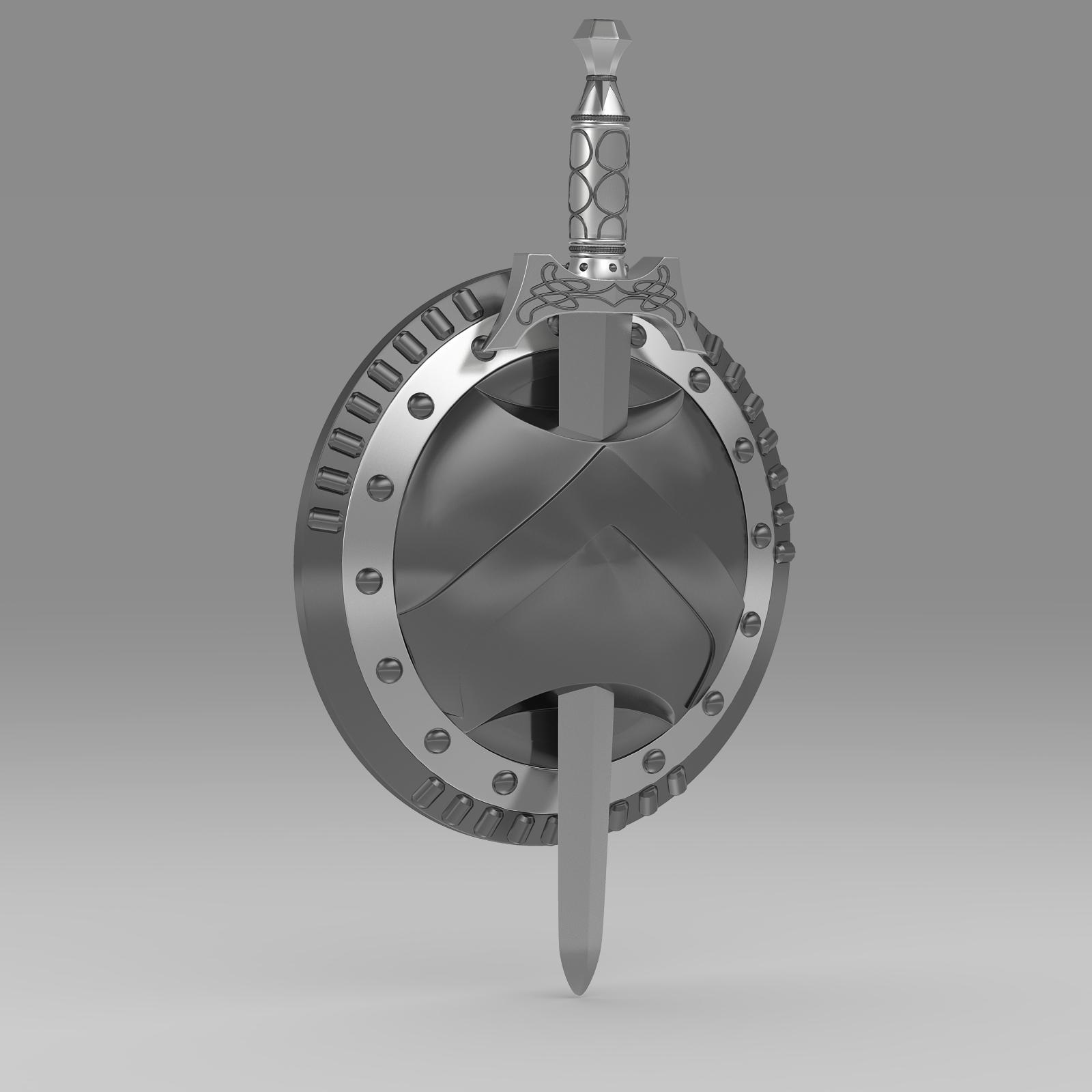 Shield and sword v1 3d model 3ds fbx c4d lwo lws lw ma mb   obj 221427