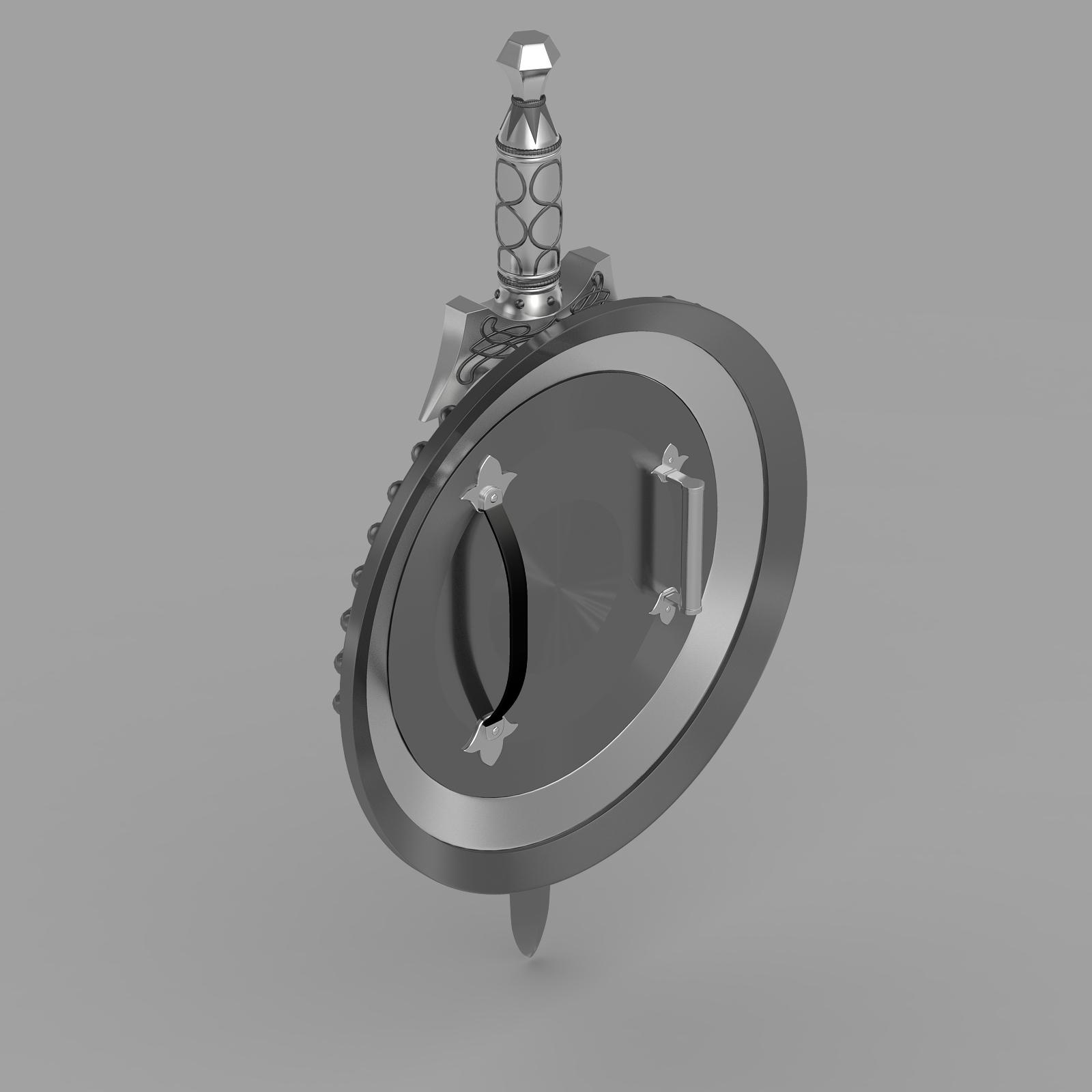shield and sword v1 3d model 3ds fbx c4d lwo ma mb hrc xsi  obj 221432