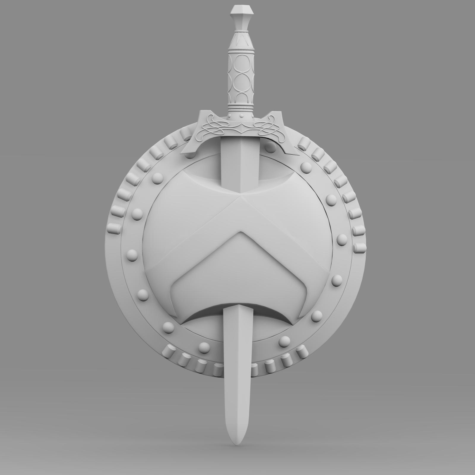 shield and sword v1 3d model 3ds fbx c4d lwo ma mb hrc xsi  obj 221434