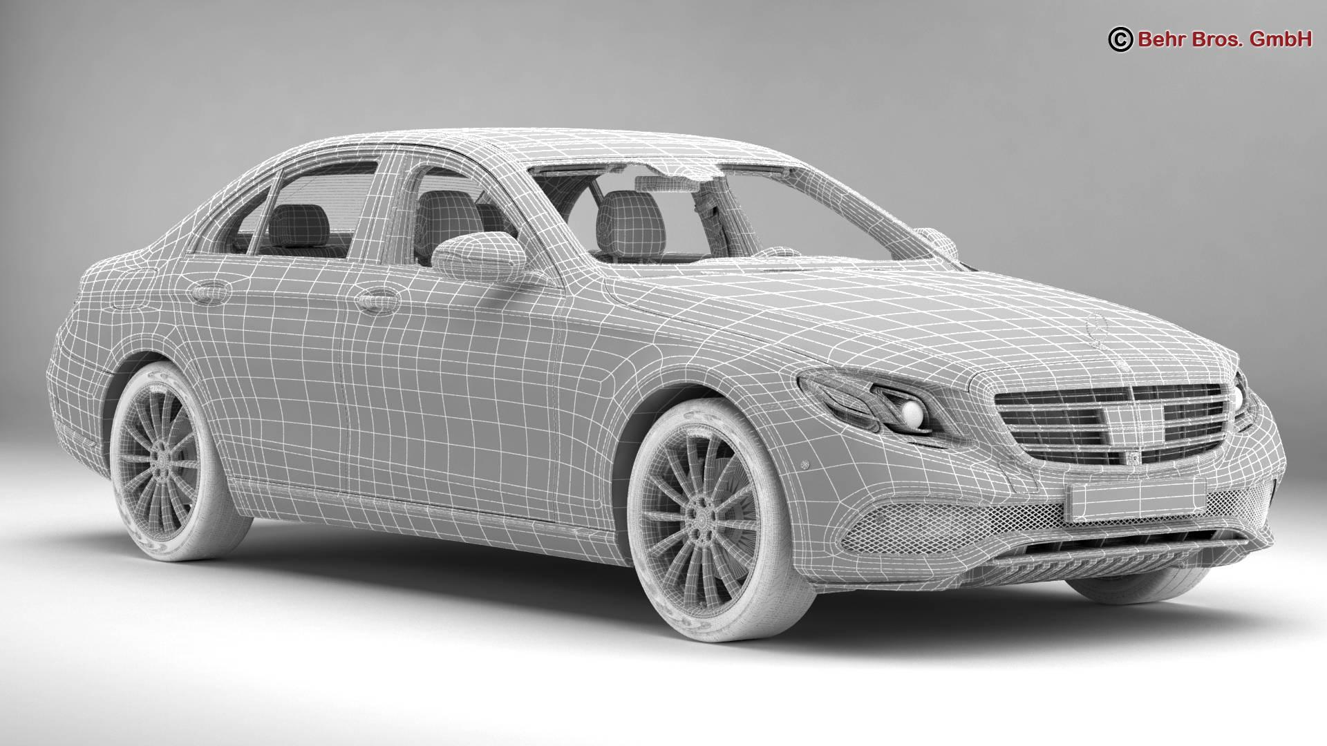 mercedes e class exclusive 2017 3d model 3ds max fbx c4d lwo ma mb obj 221478