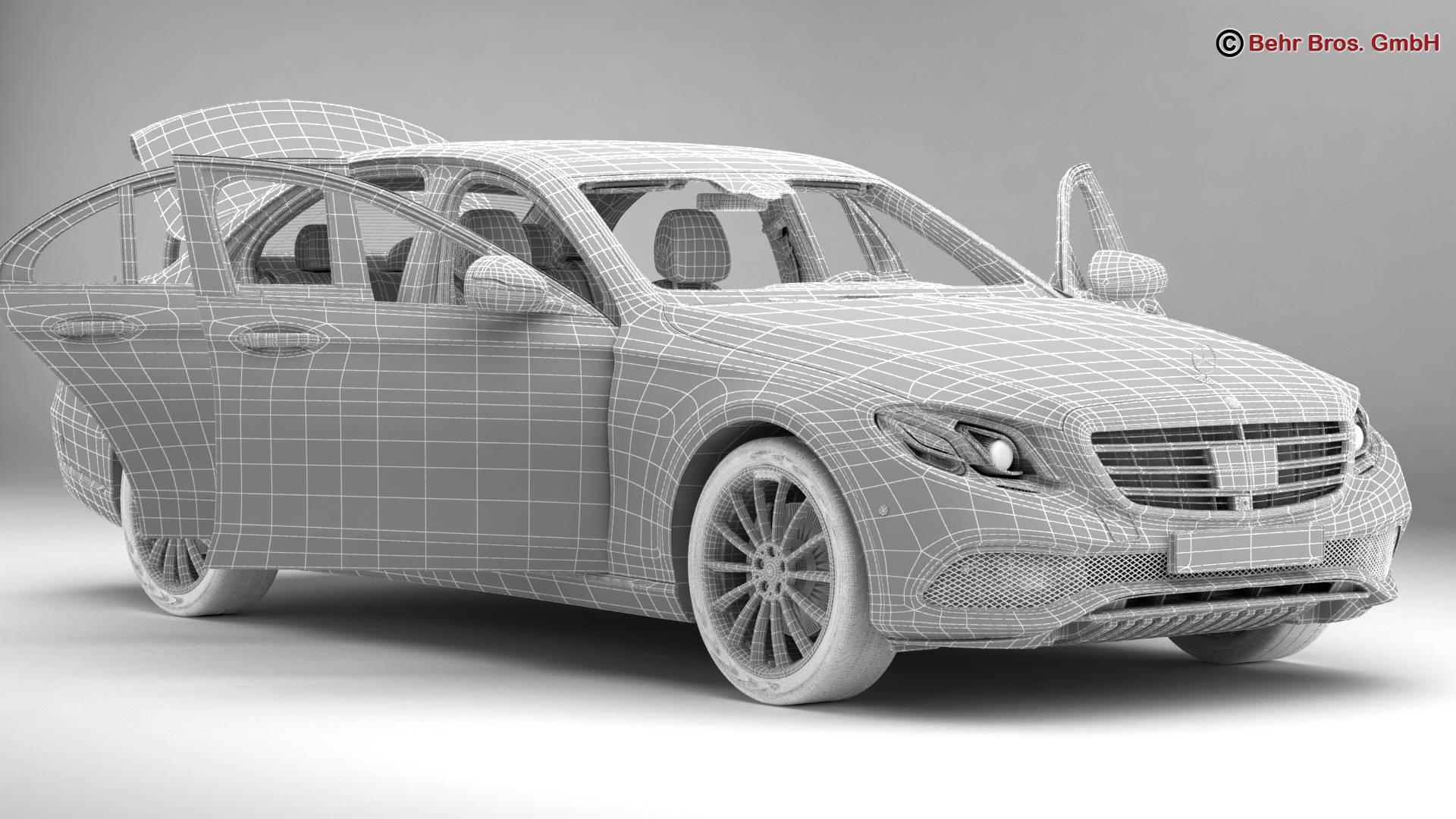 mercedes e class exclusive 2017 3d model 3ds max fbx c4d lwo ma mb obj 221479