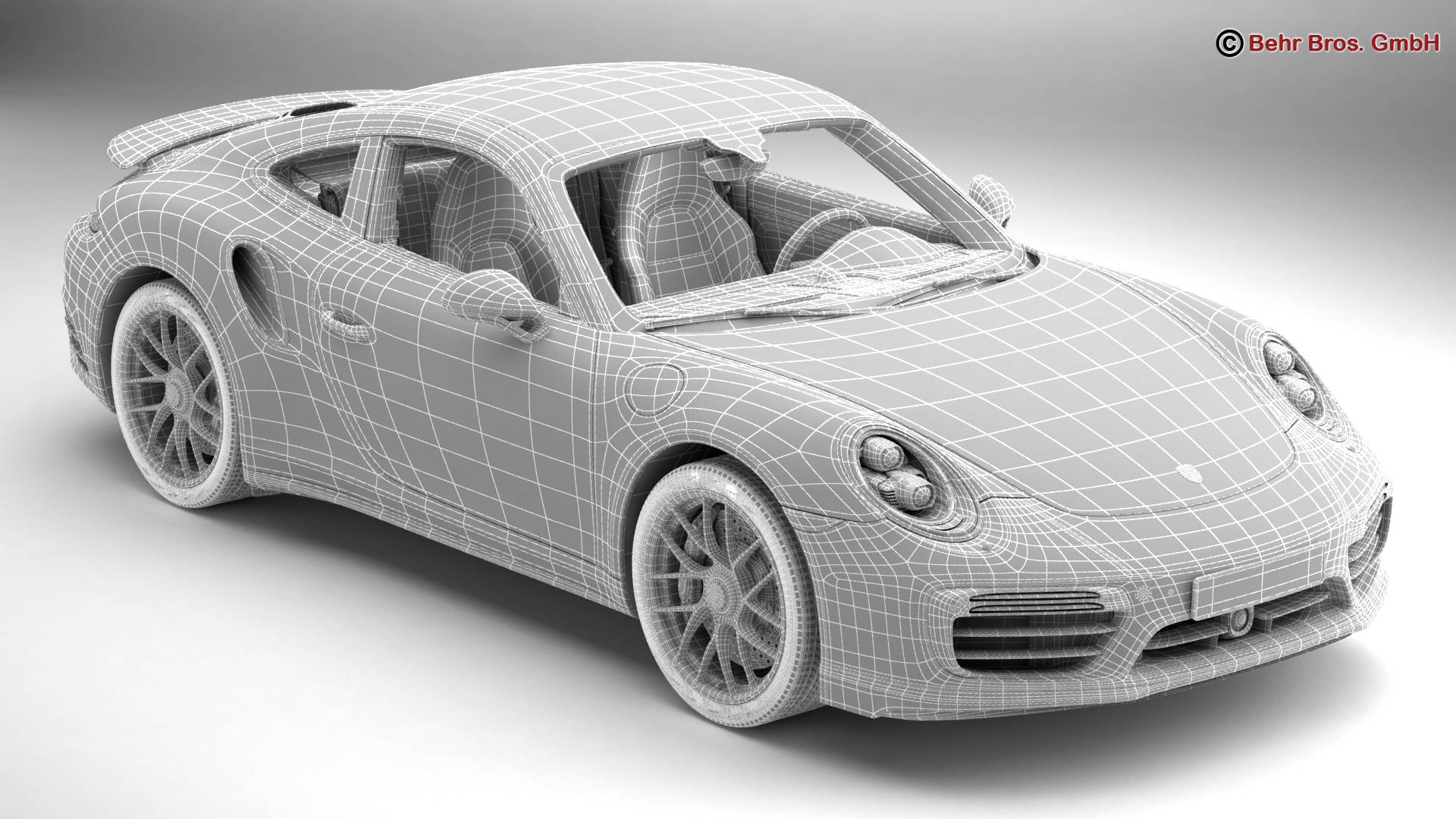 porsche 911 turbo s 2017 3d model 3ds max fbx c4d lwo ma mb obj 221509