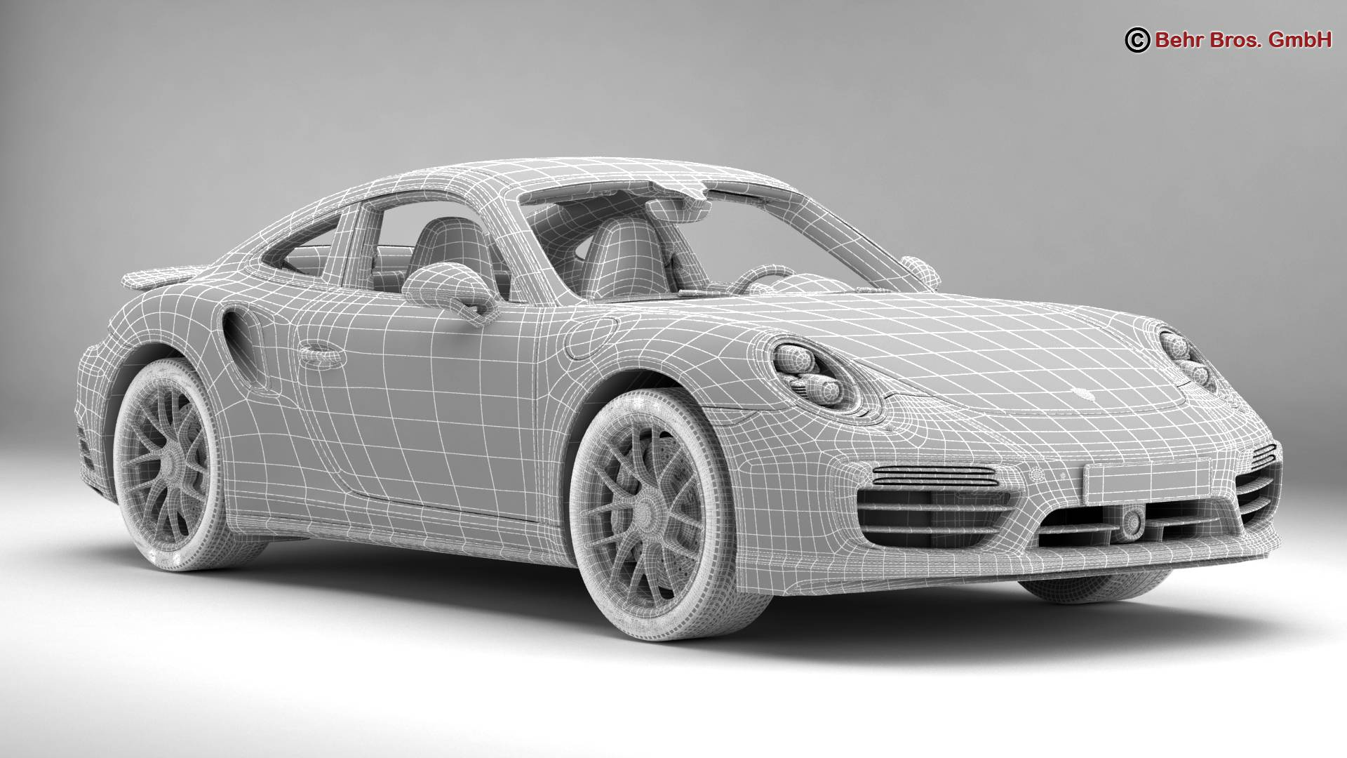 porsche 911 turbo s 2017 3d model 3ds max fbx c4d lwo ma mb obj 221510