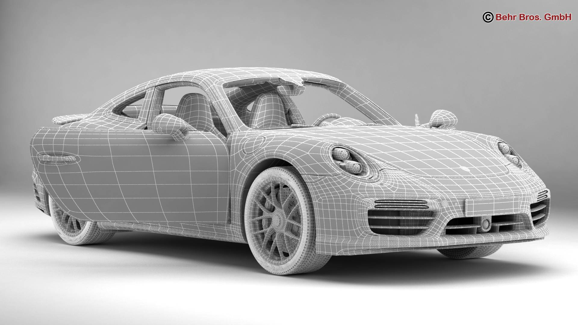 porsche 911 turbo s 2017 3d model 3ds max fbx c4d lwo ma mb obj 221511