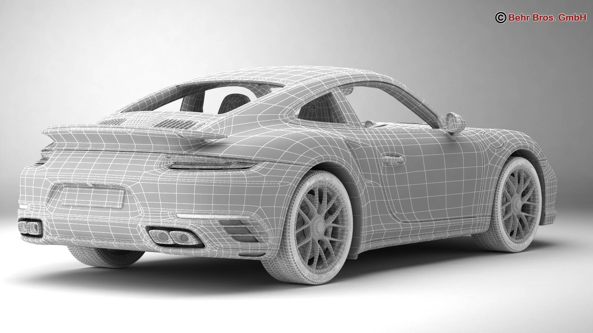 porsche 911 turbo s 2017 3d model 3ds max fbx c4d lwo ma mb obj 221512