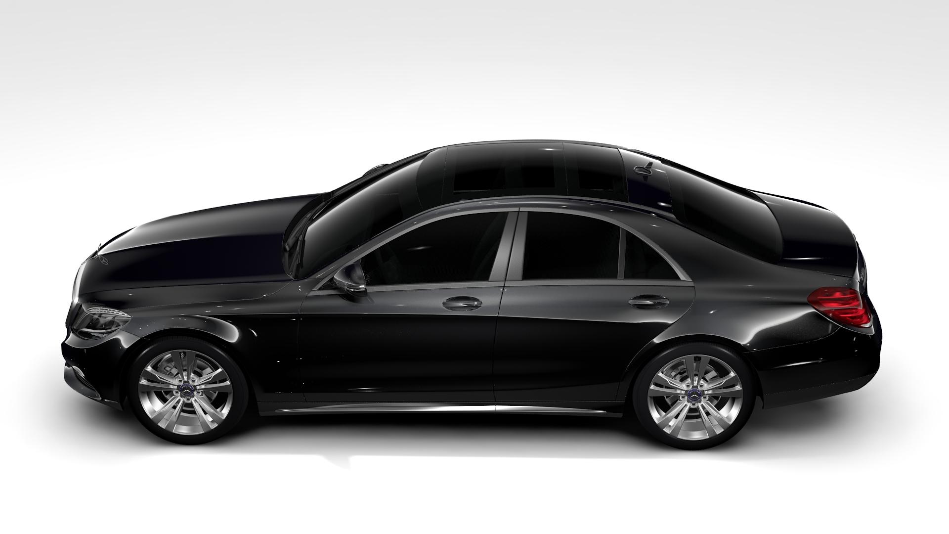 Mercedes benz s 300 bluetec hybrid w222 2016 3d model for Mercedes benz hybrid car