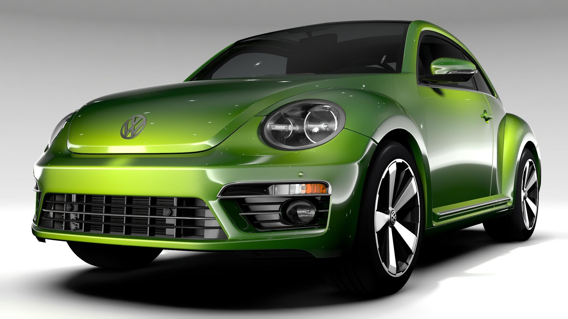 vw beetle 2017 3d model 3ds max fbx c4d lwo ma mb hrc xsi obj 221565