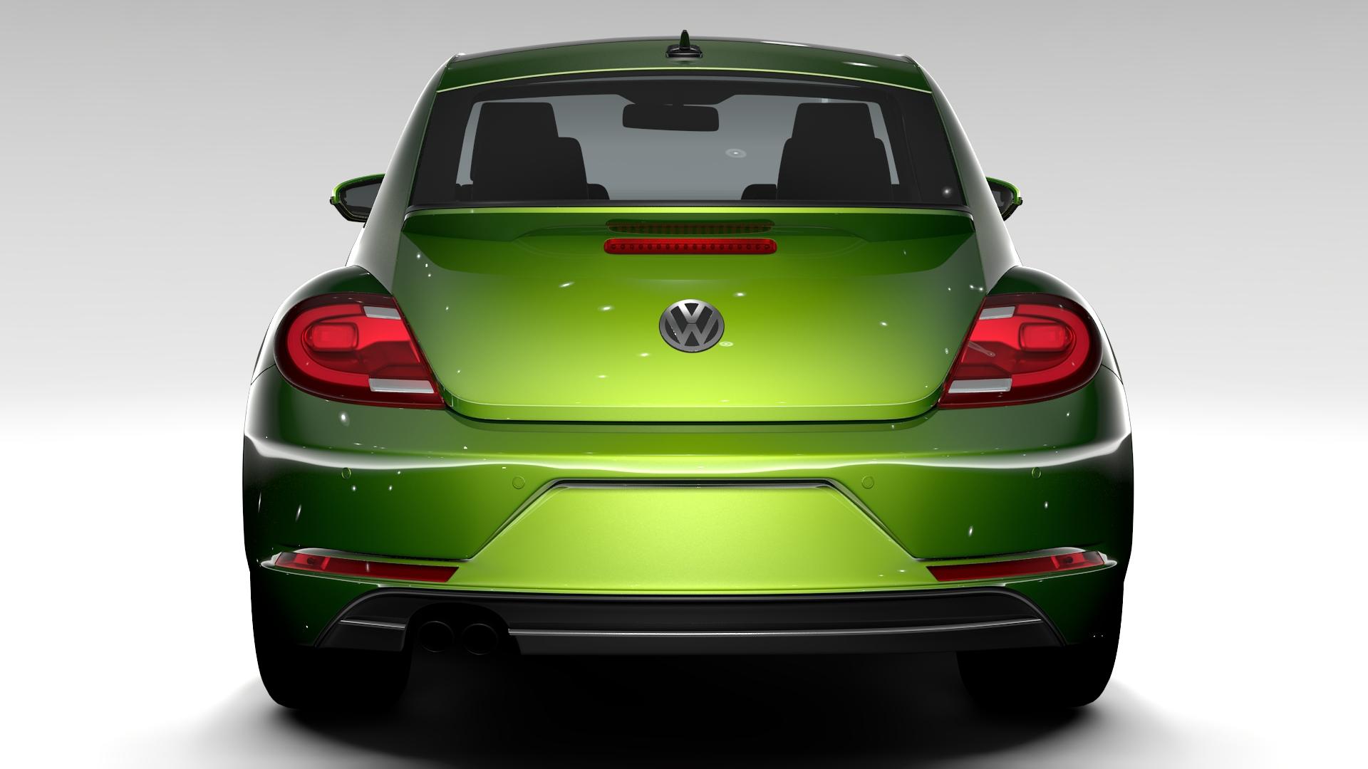 vw beetle 2017 3d model 3ds max fbx c4d lwo ma mb hrc xsi obj 221569