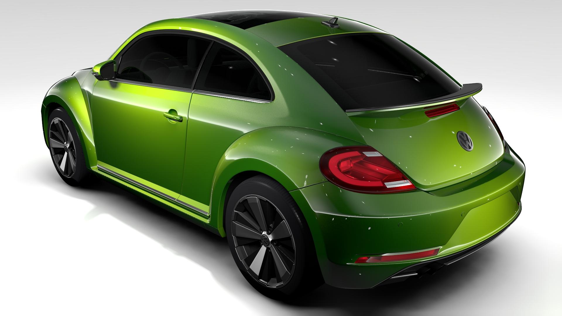 vw beetle 2017 3d model 3ds max fbx c4d lwo ma mb hrc xsi obj 221570