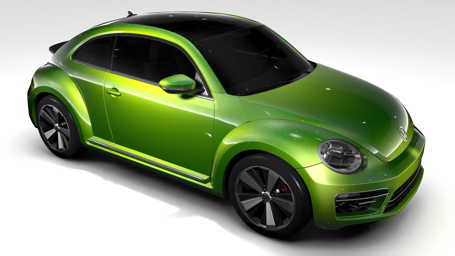 vw beetle 2017 3d model 3ds max fbx c4d lwo ma mb hrc xsi obj 221574