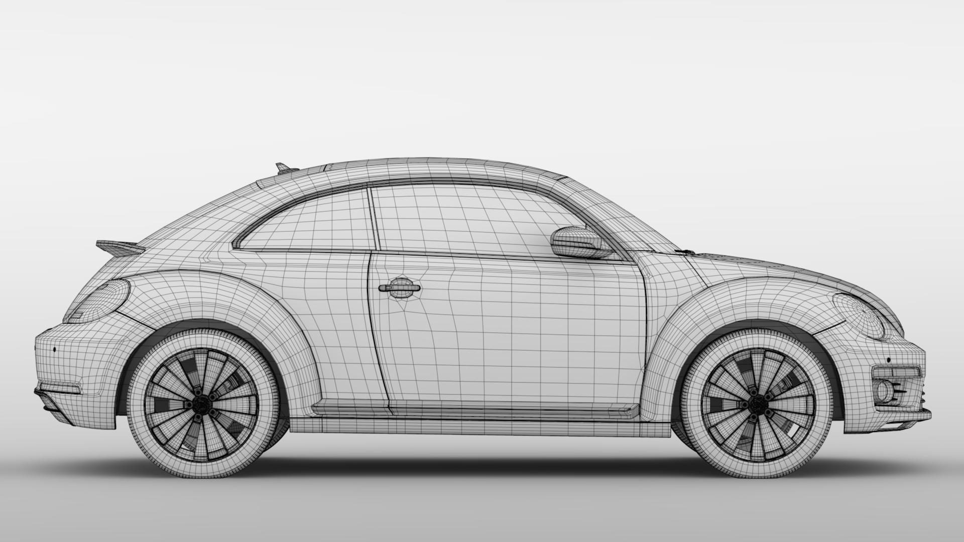vw beetle 2017 3d model 3ds max fbx c4d lwo ma mb hrc xsi obj 221582