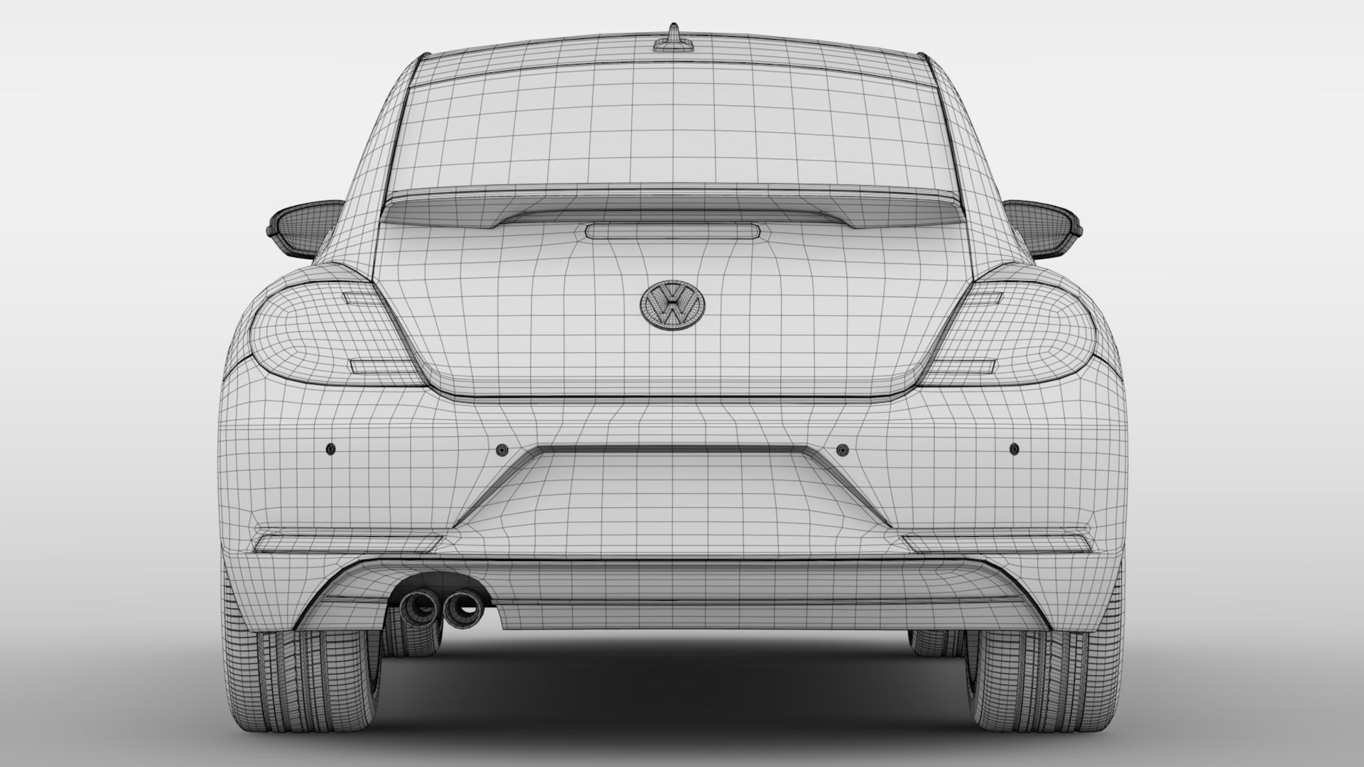 vw beetle 2017 3d model 3ds max fbx c4d lwo ma mb hrc xsi obj 221583