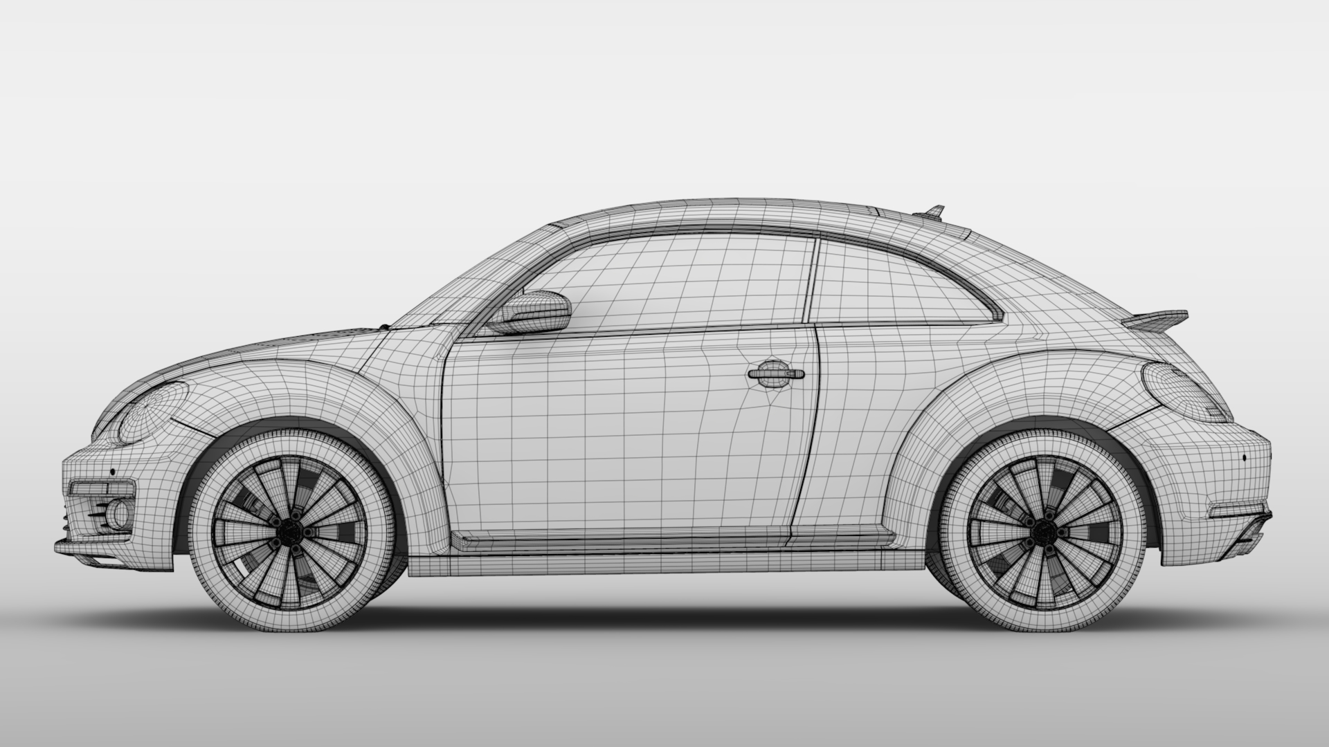 vw beetle 2017 3d model 3ds max fbx c4d lwo ma mb hrc xsi obj 221584