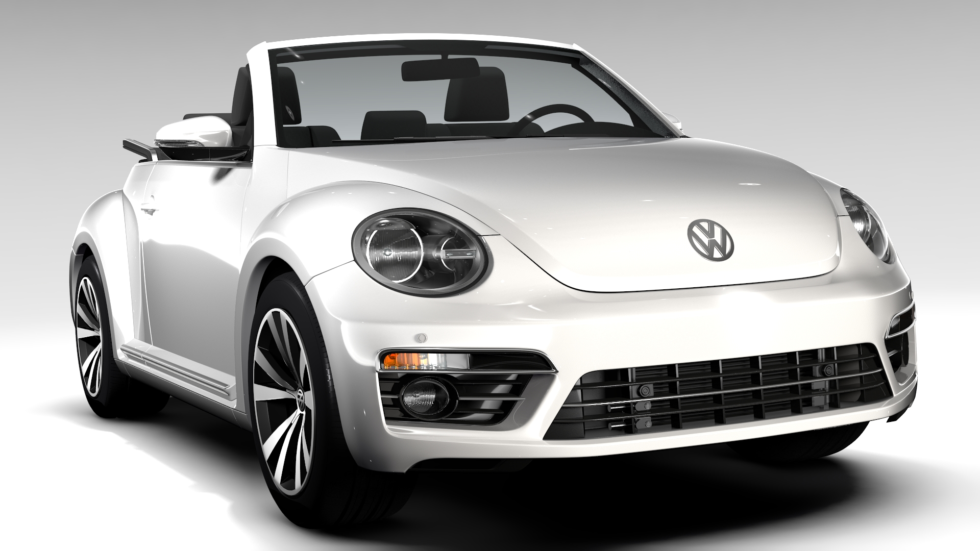 vw beetle cabriolet 2017 3d model buy vw beetle. Black Bedroom Furniture Sets. Home Design Ideas