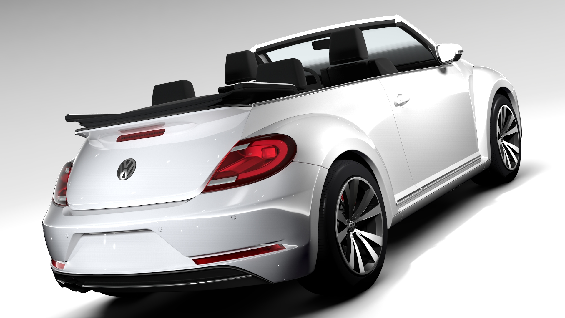 vw beetle cabriolet 2017 3d model. Black Bedroom Furniture Sets. Home Design Ideas