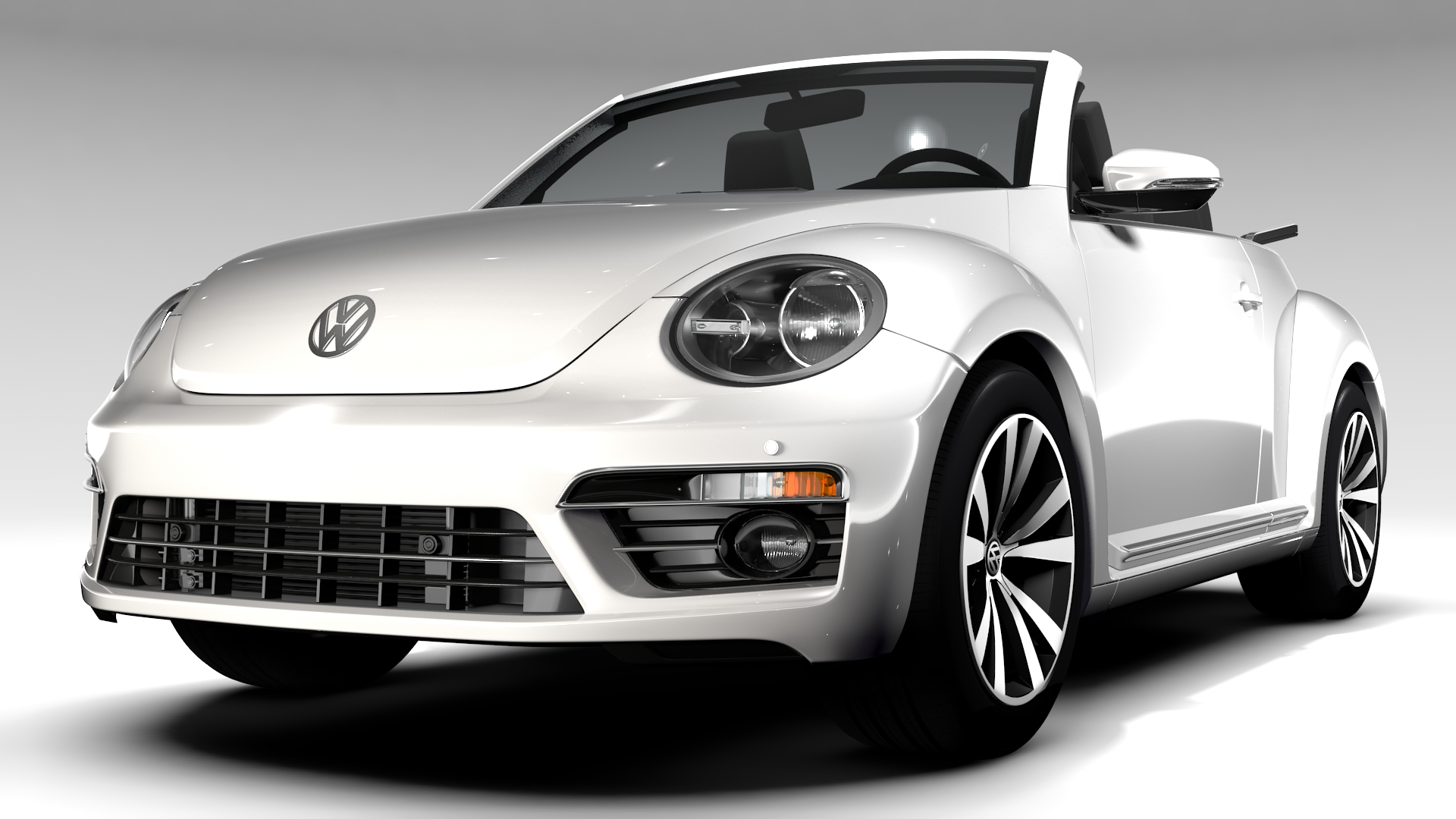 vw beetle cabriolet 2017 3d model 3ds max fbx c4d lwo ma mb hrc xsi obj 221590