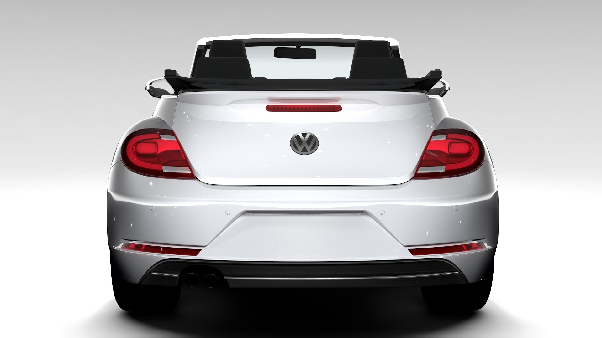 vw beetle cabriolet 2017 3d model 3ds max fbx c4d lwo ma mb hrc xsi obj 221593