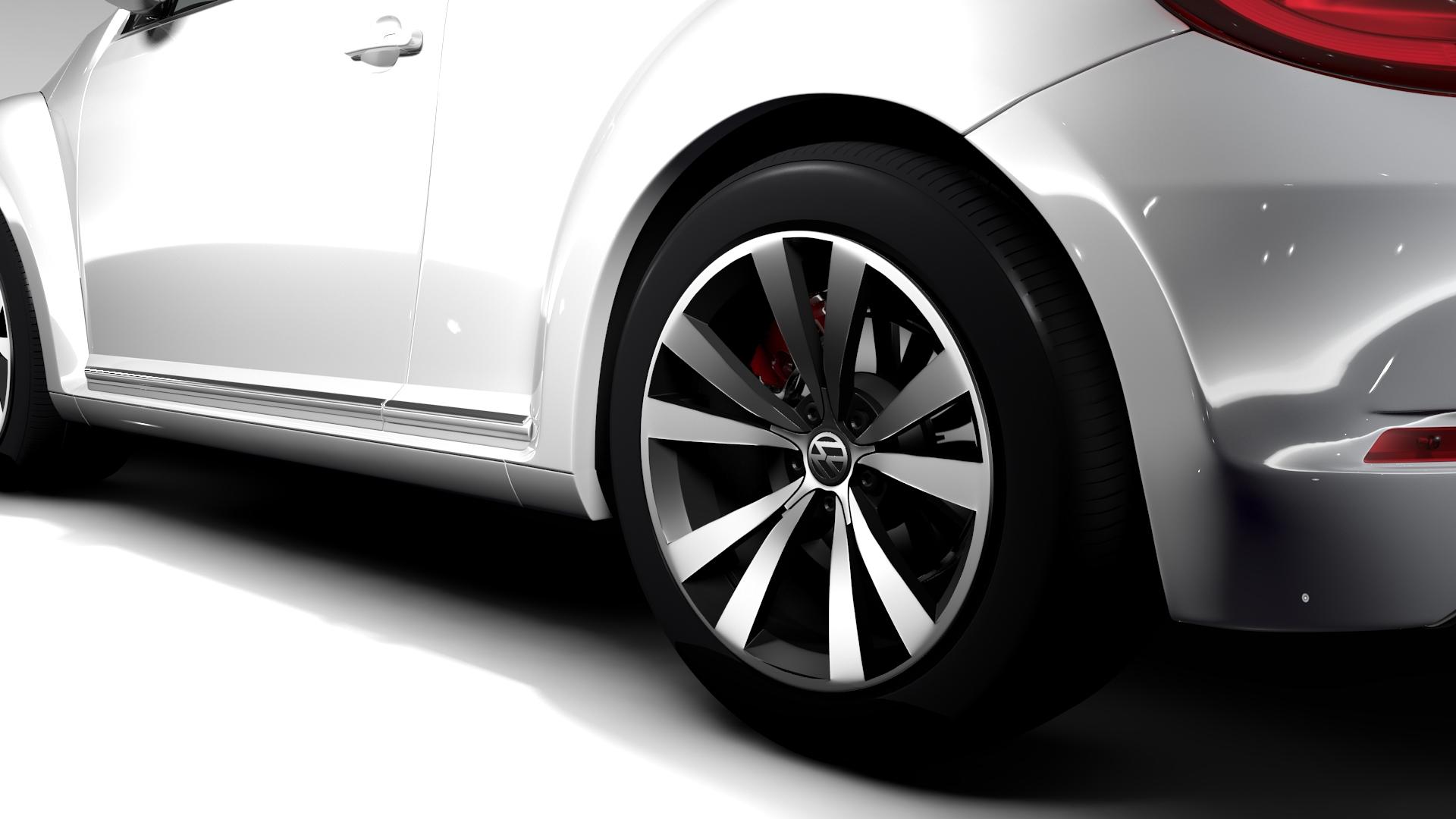 vw beetle cabriolet 2017 3d model 3ds max fbx c4d lwo ma mb hrc xsi obj 221595