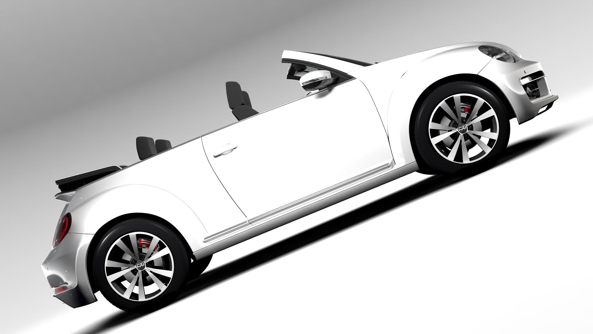 vw beetle cabriolet 2017 3d model 3ds max fbx c4d lwo ma mb hrc xsi obj 221596