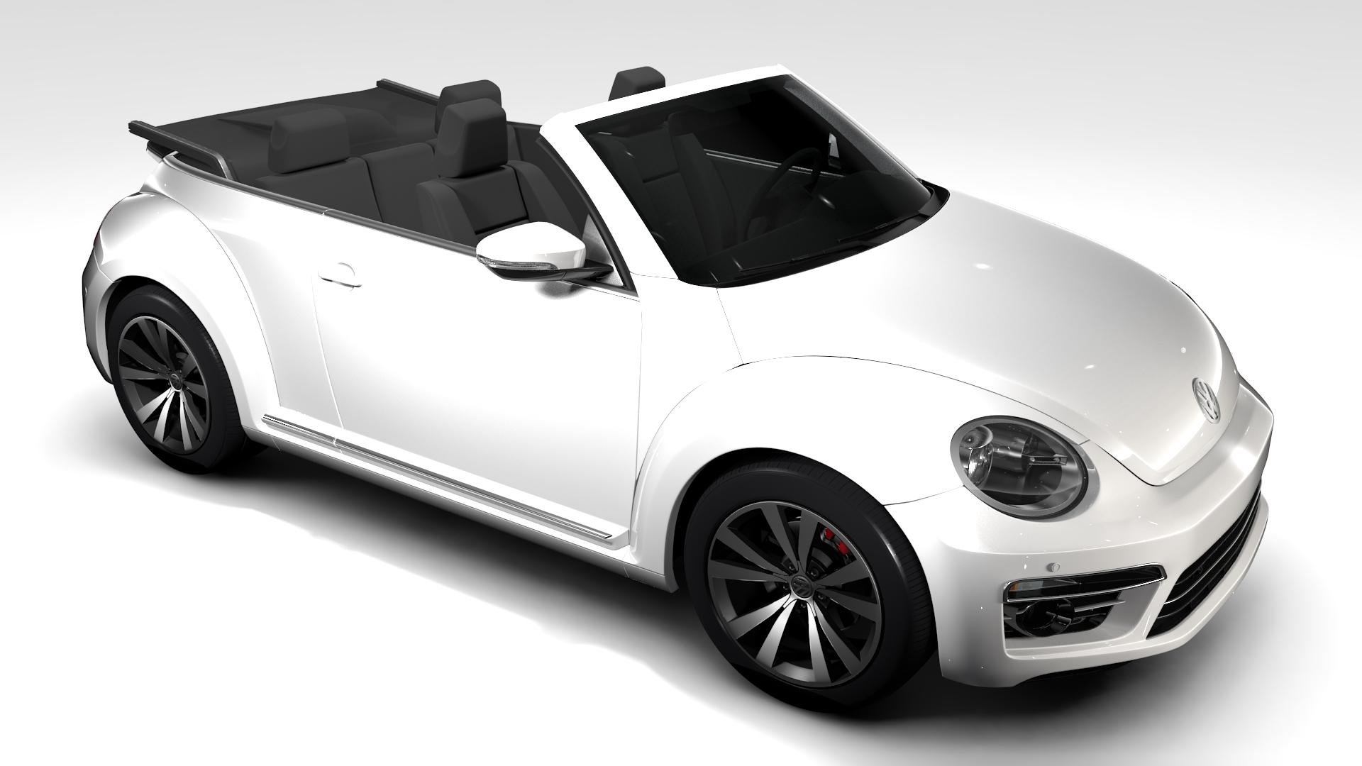vw beetle cabriolet 2017 3d model 3ds max fbx c4d lwo ma mb hrc xsi obj 221599