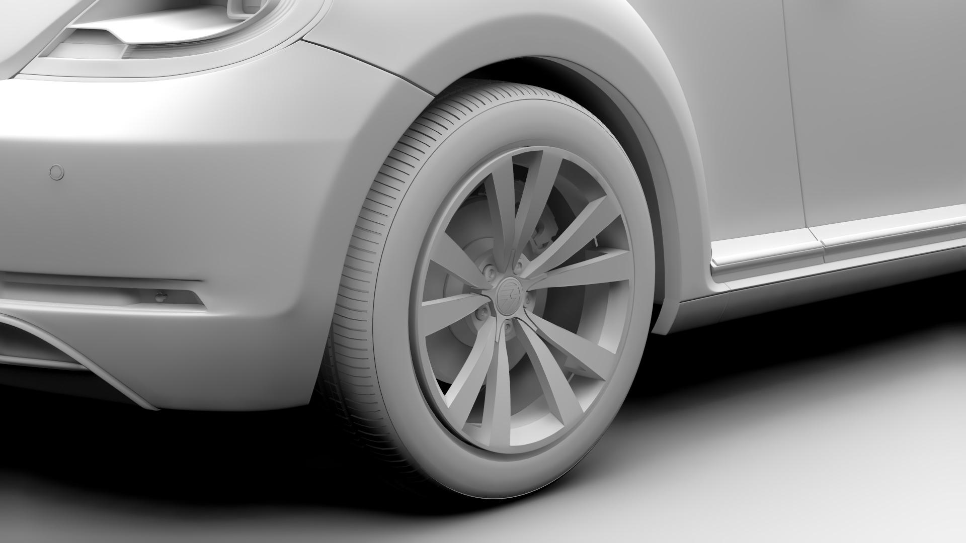 vw beetle cabriolet 2017 3d model 3ds max fbx c4d lwo ma mb hrc xsi obj 221601