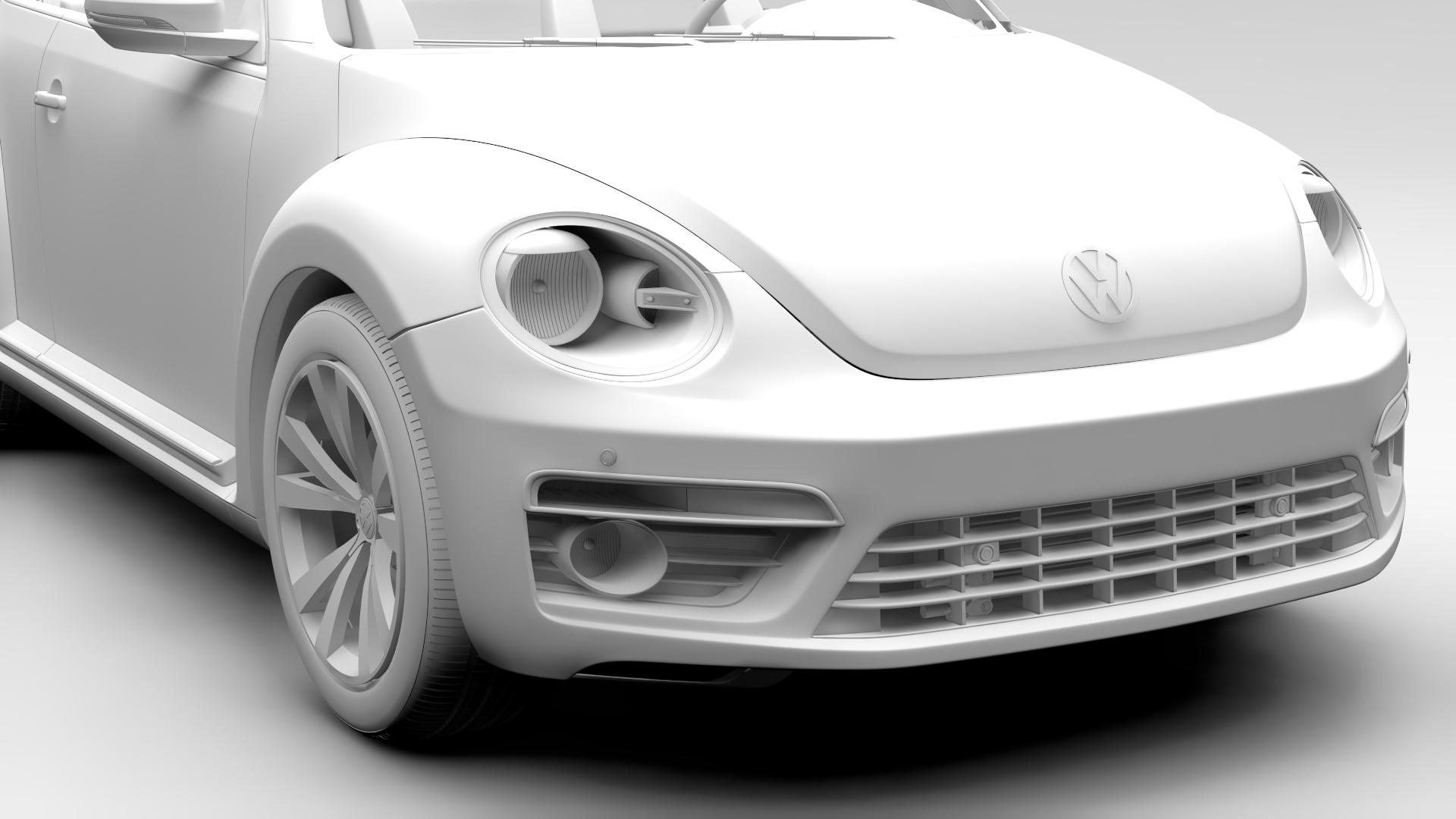 vw beetle cabriolet 2017 3d model 3ds max fbx c4d lwo ma mb hrc xsi obj 221602