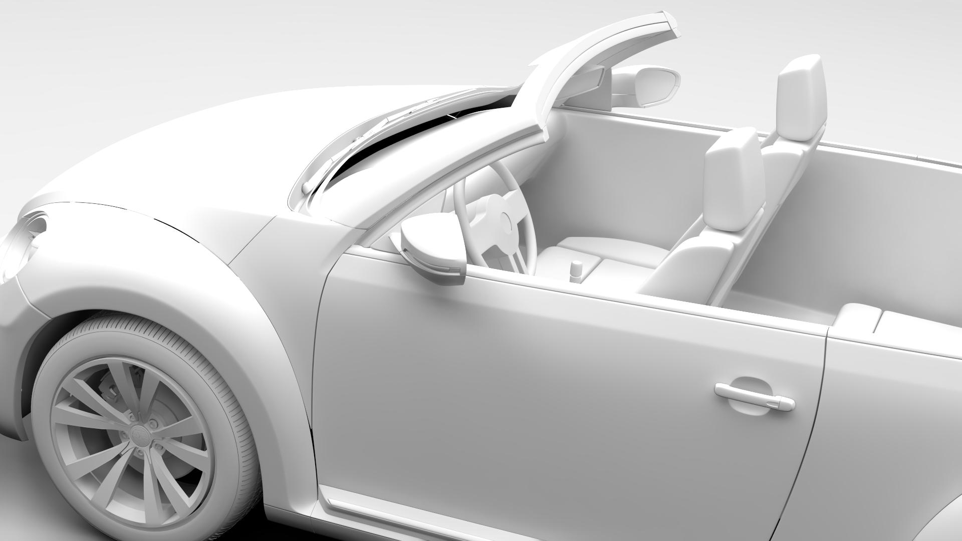 vw beetle cabriolet 2017 3d model 3ds max fbx c4d lwo ma mb hrc xsi obj 221603