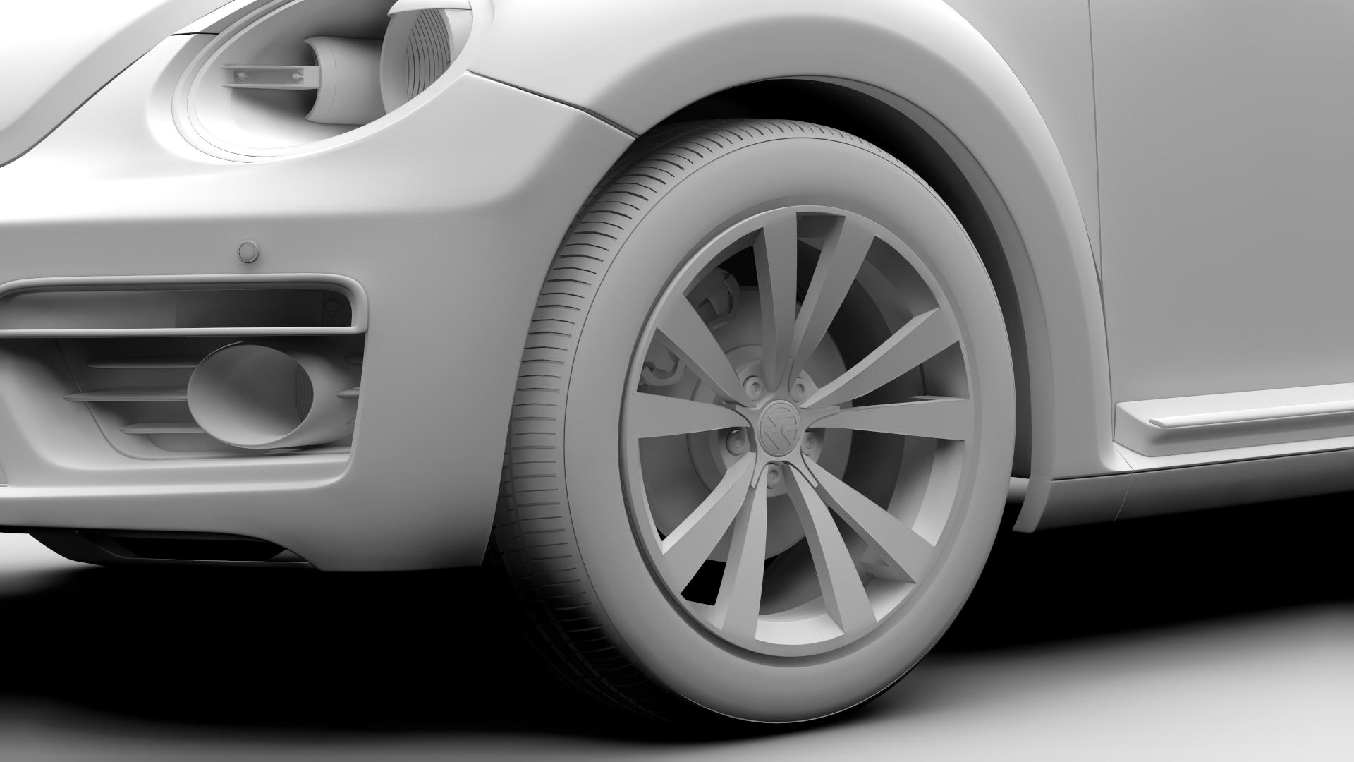 vw beetle cabriolet 2017 3d model 3ds max fbx c4d lwo ma mb hrc xsi obj 221604