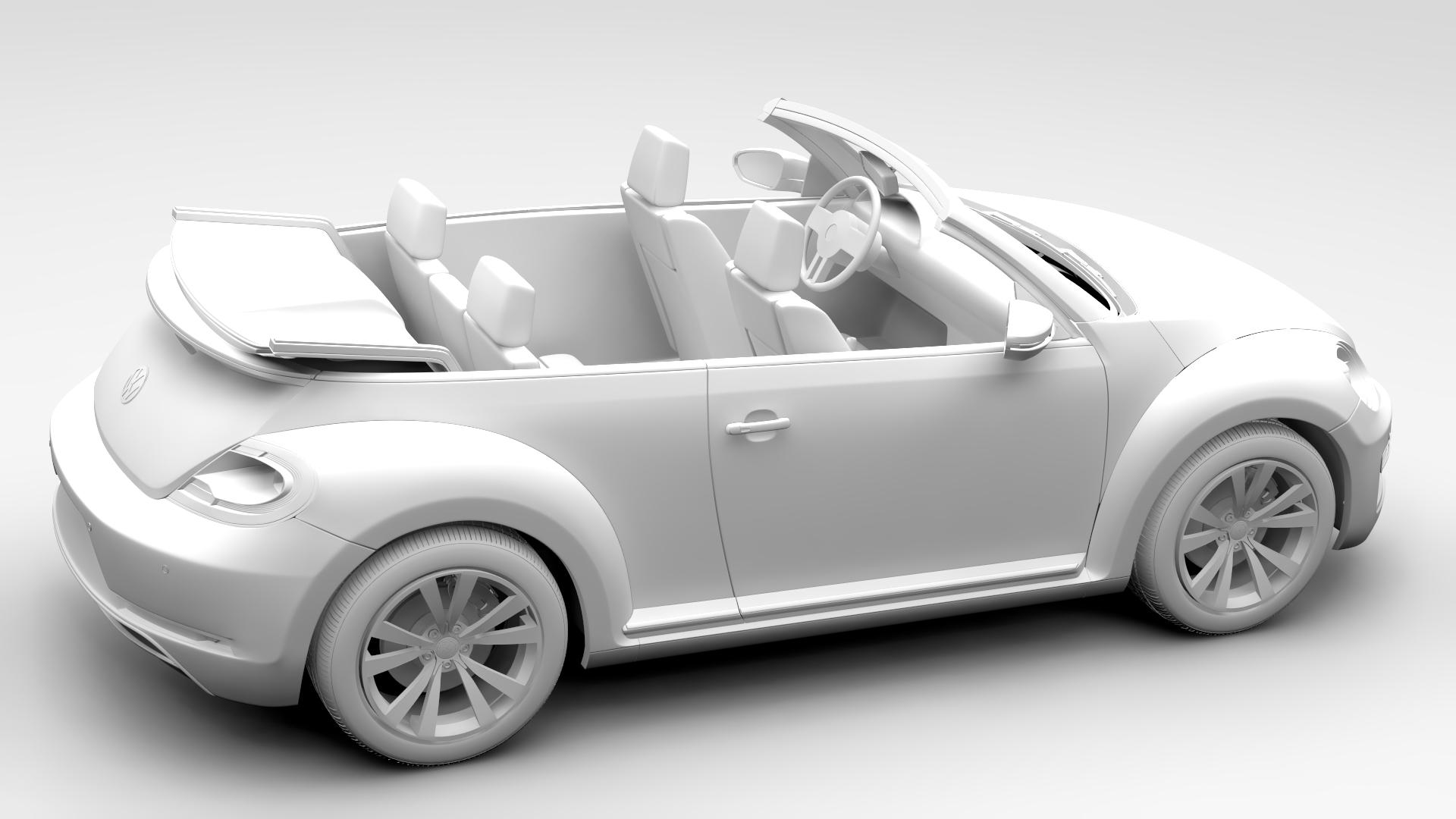 vw beetle cabriolet 2017 3d model 3ds max fbx c4d lwo ma mb hrc xsi obj 221605