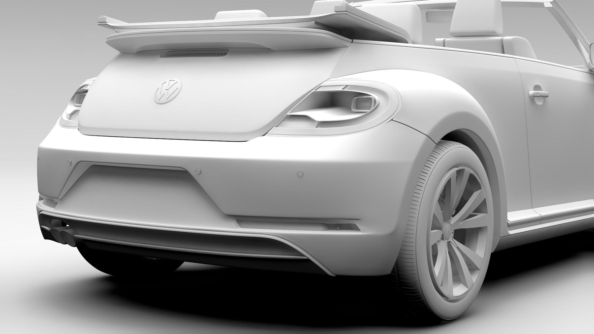 vw beetle cabriolet 2017 3d model 3ds max fbx c4d lwo ma mb hrc xsi obj 221606