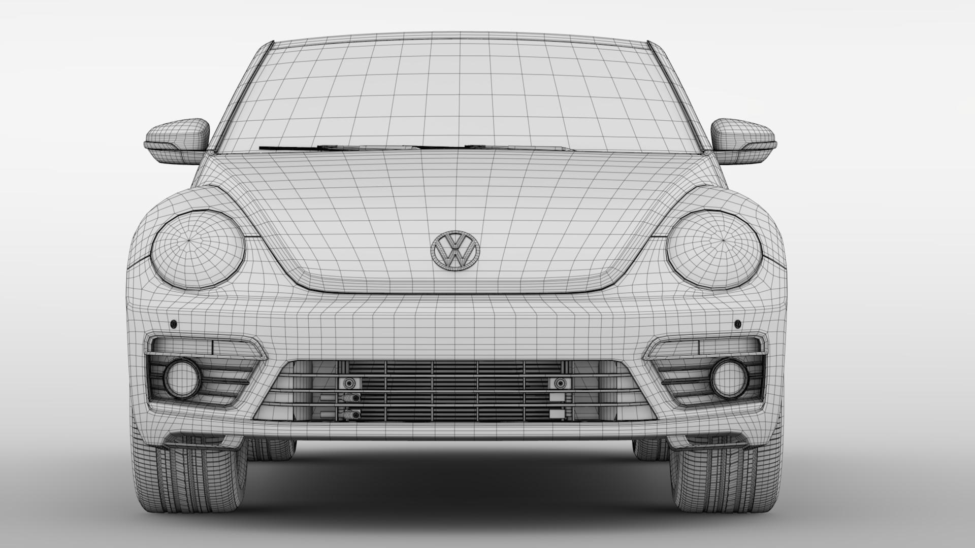 vw beetle cabriolet 2017 3d model 3ds max fbx c4d lwo ma mb hrc xsi obj 221607