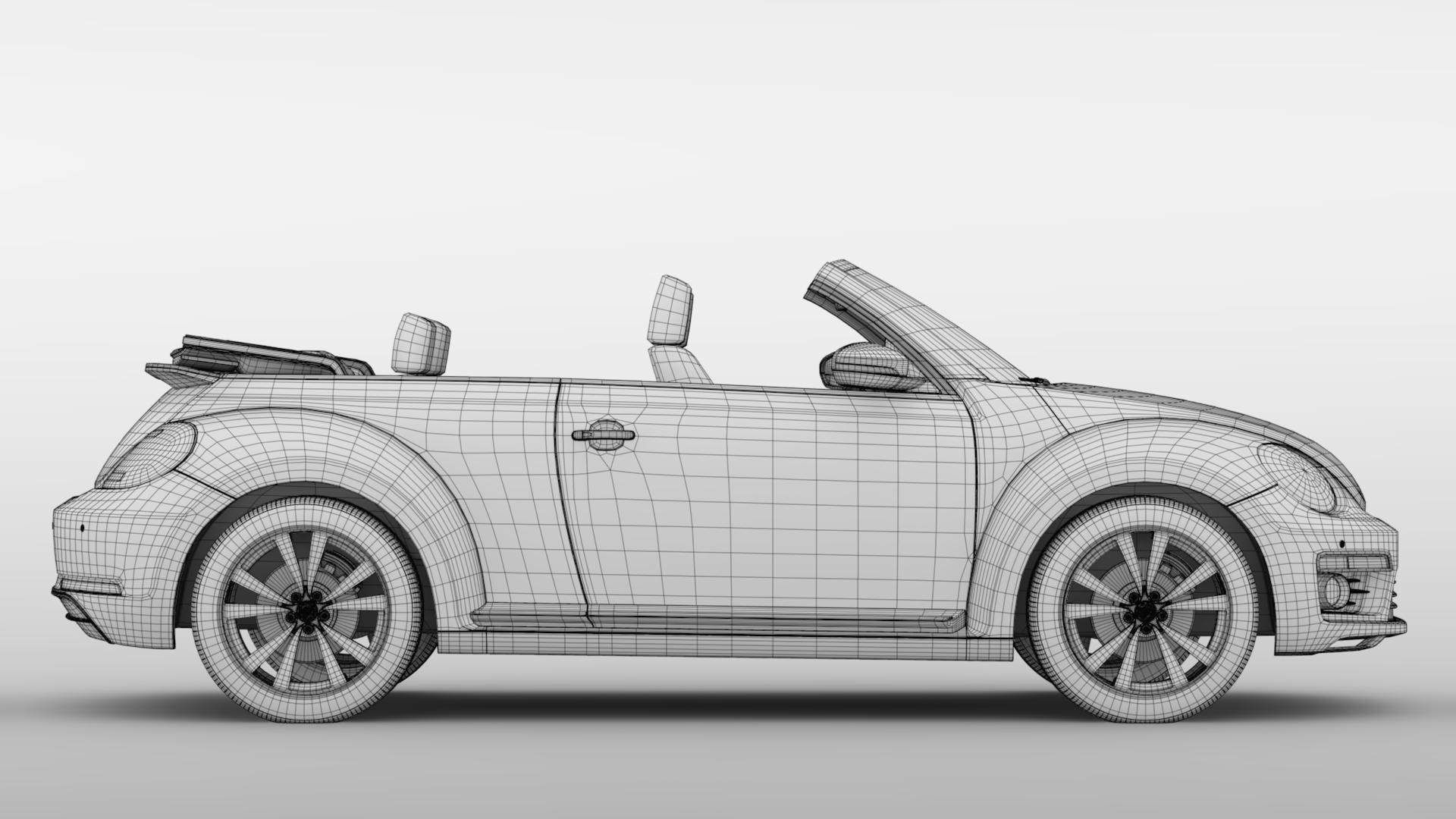 vw beetle cabriolet 2017 3d model 3ds max fbx c4d lwo ma mb hrc xsi obj 221608