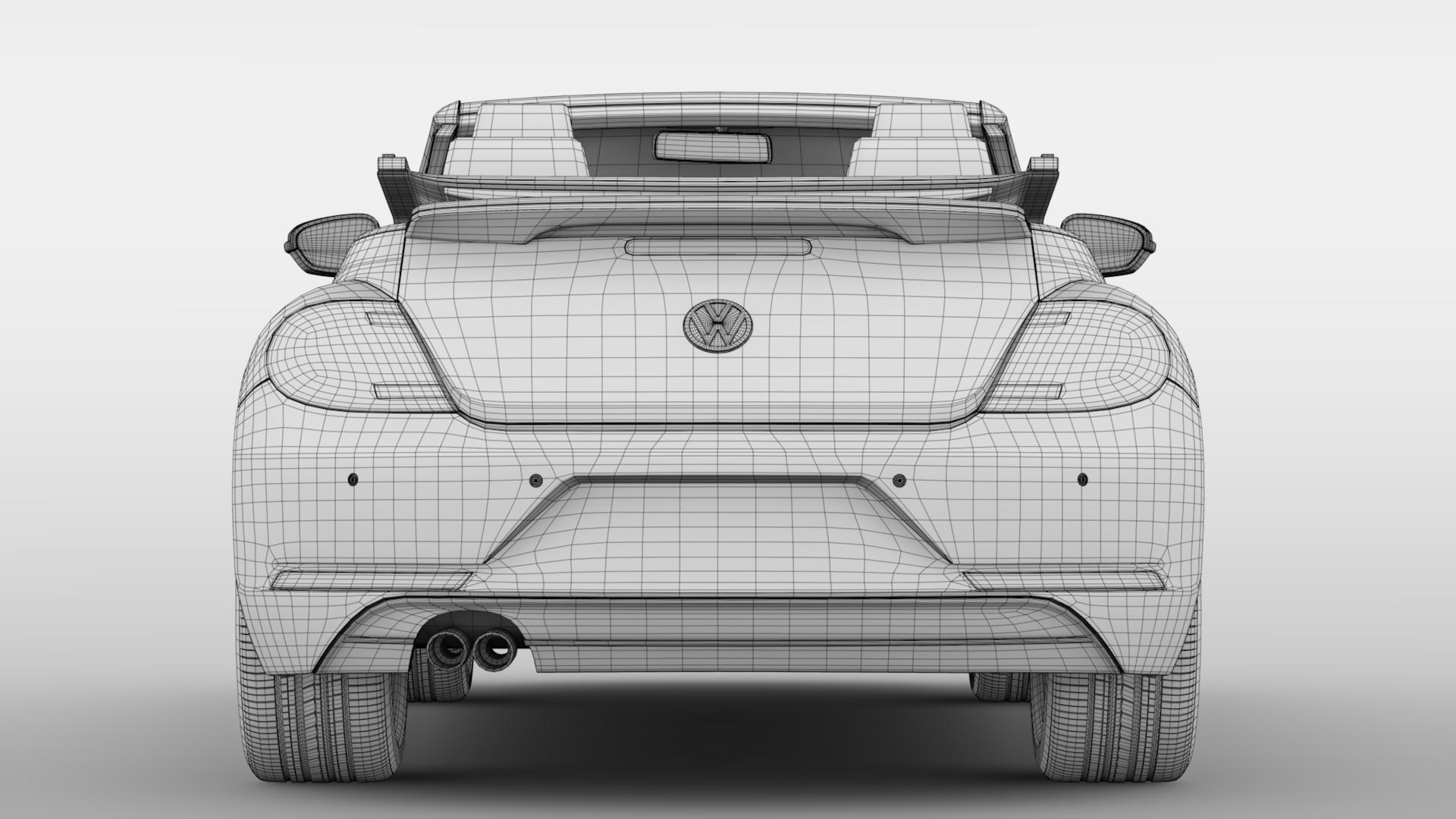 vw beetle cabriolet 2017 3d model 3ds max fbx c4d lwo ma mb hrc xsi obj 221609