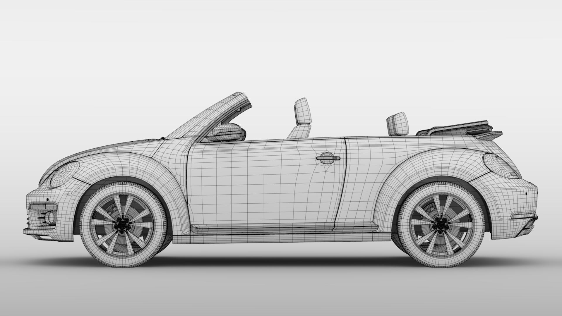 vw beetle cabriolet 2017 3d model 3ds max fbx c4d lwo ma mb hrc xsi obj 221610
