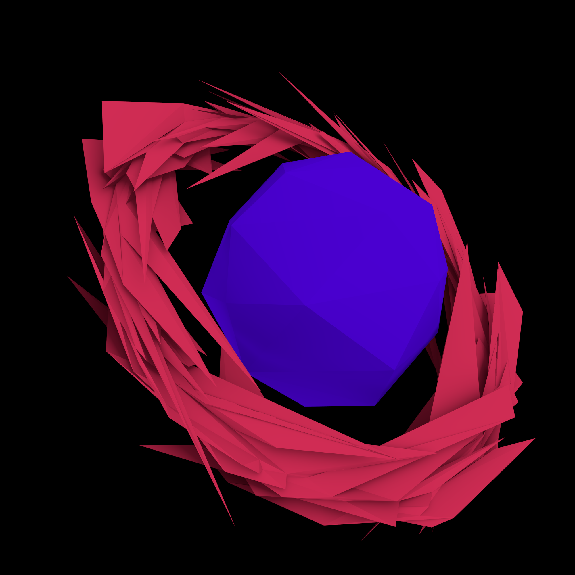 sharpened ring edged planet 3d model 3ds fbx blend dae obj 221653