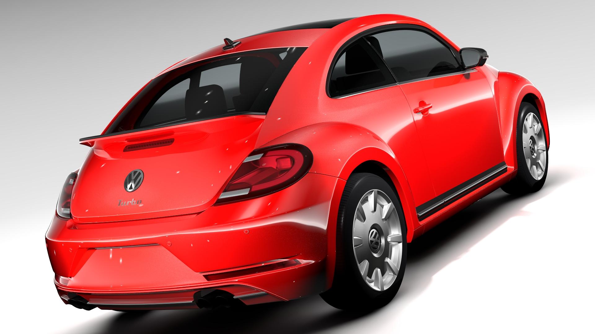 vw beetle turbo 2017 3d model 3ds max fbx c4d lwo ma mb hrc xsi obj 221656