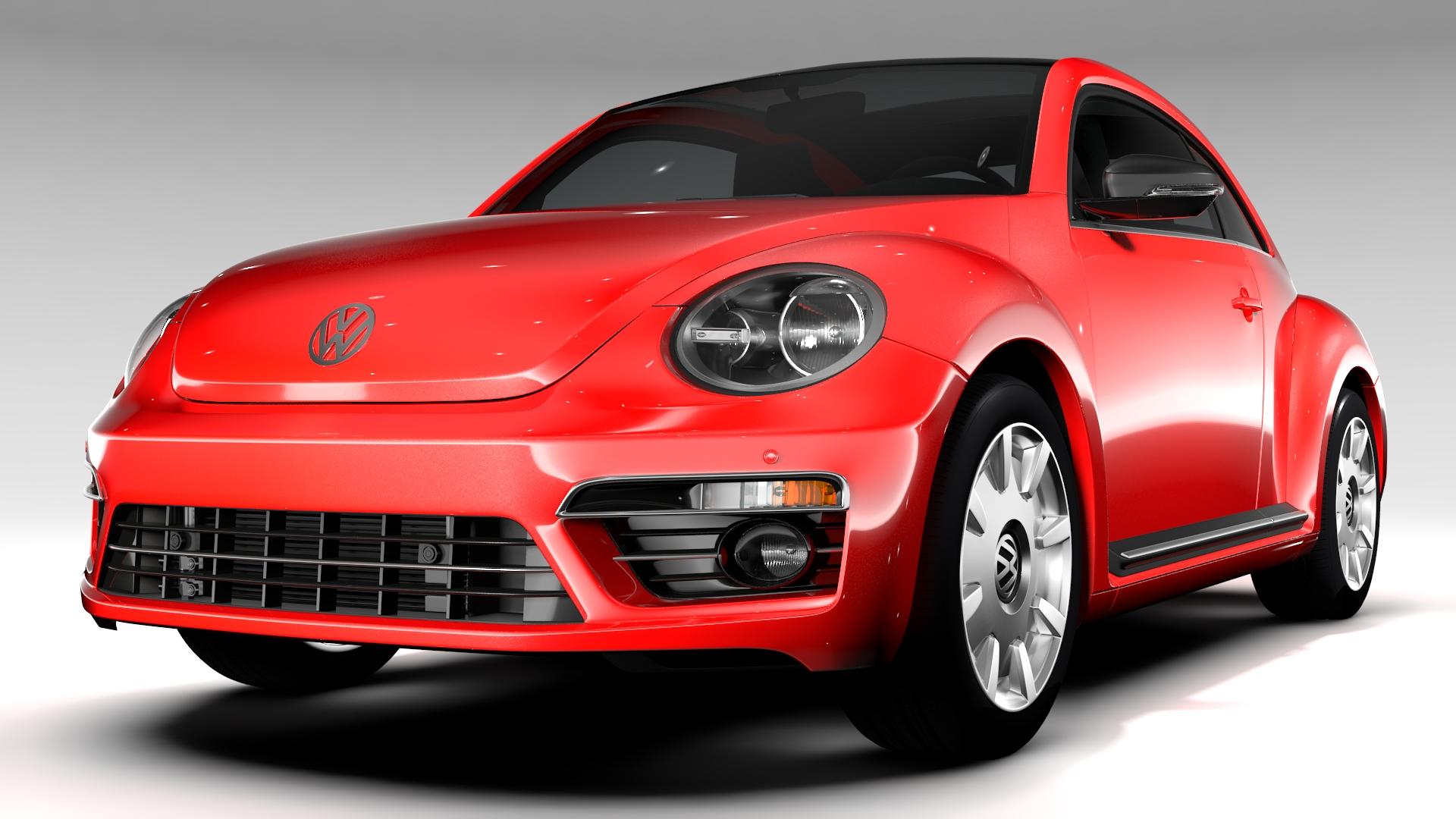 vw beetle turbo 2017 3d model 3ds max fbx c4d lwo ma mb hrc xsi obj 221658