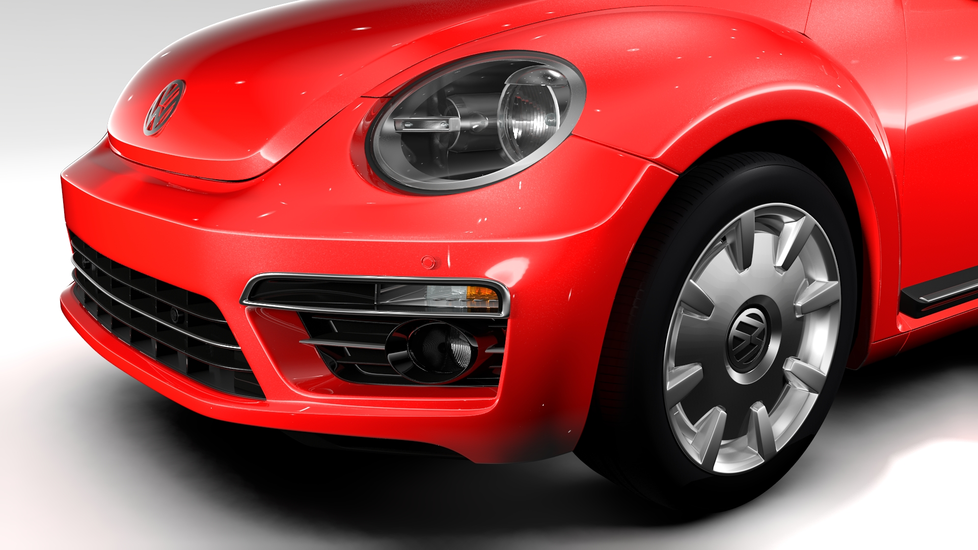 vw beetle turbo 2017 3d model 3ds max fbx c4d lwo ma mb hrc xsi obj 221659