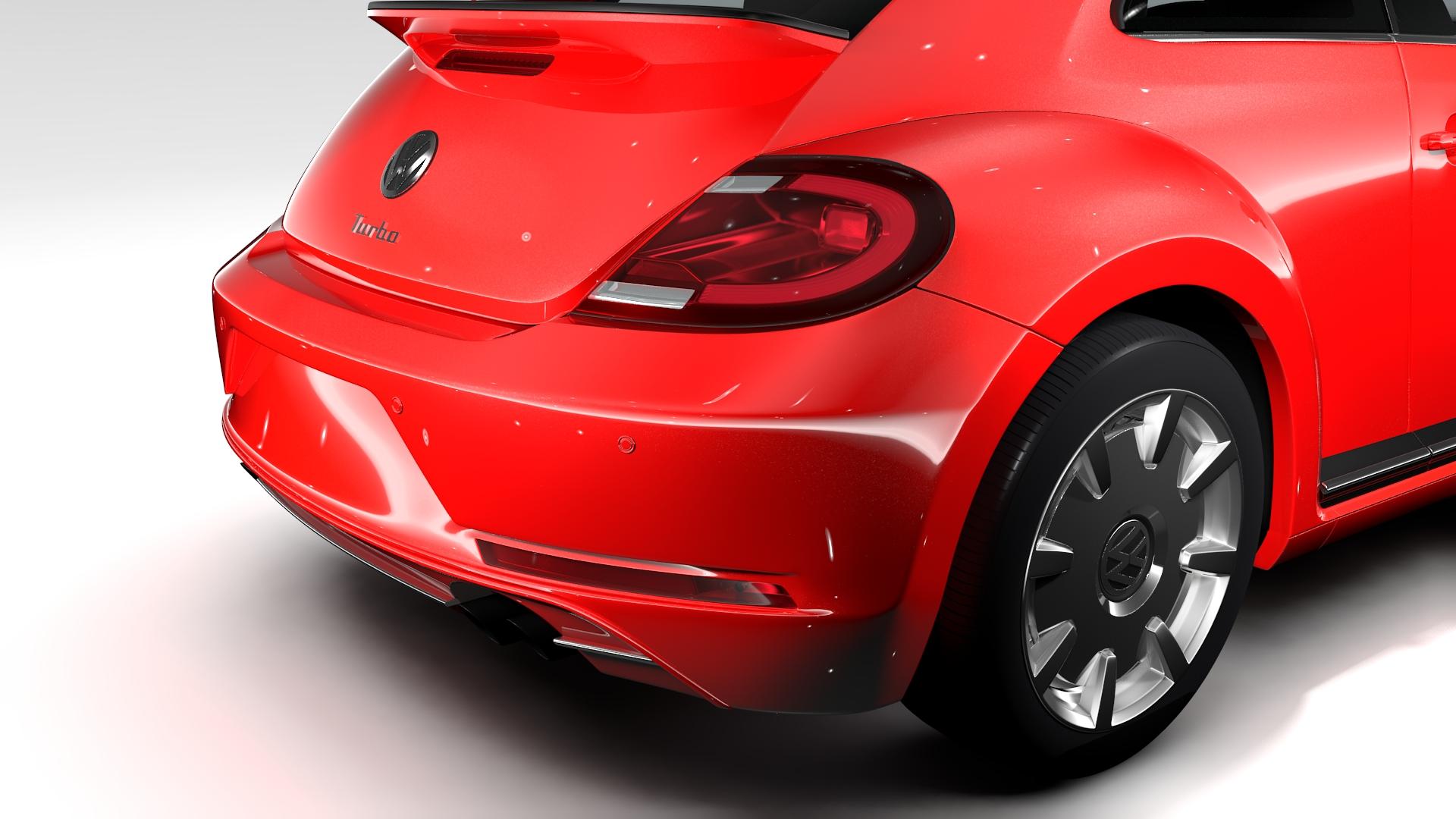 vw beetle turbo 2017 3d model 3ds max fbx c4d lwo ma mb hrc xsi obj 221661