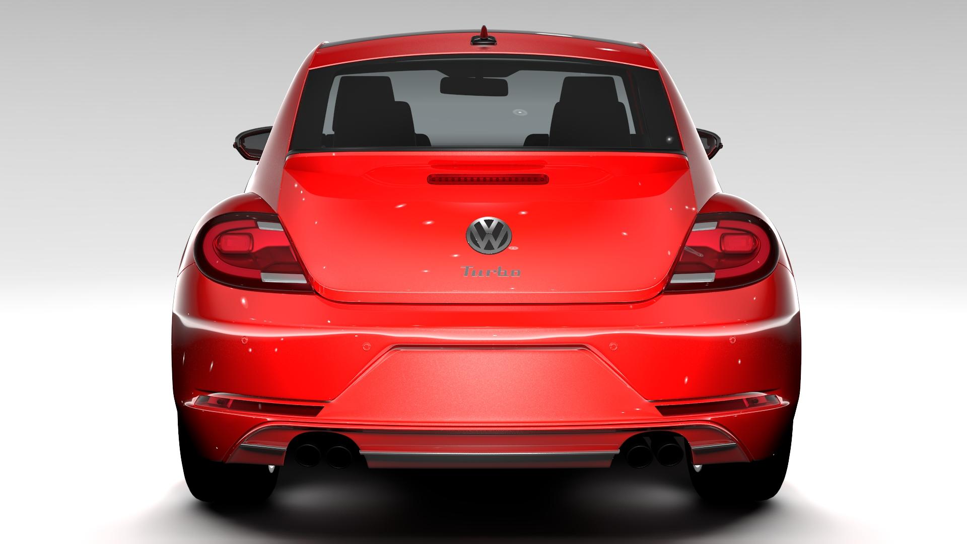 vw beetle turbo 2017 3d model 3ds max fbx c4d lwo ma mb hrc xsi obj 221662