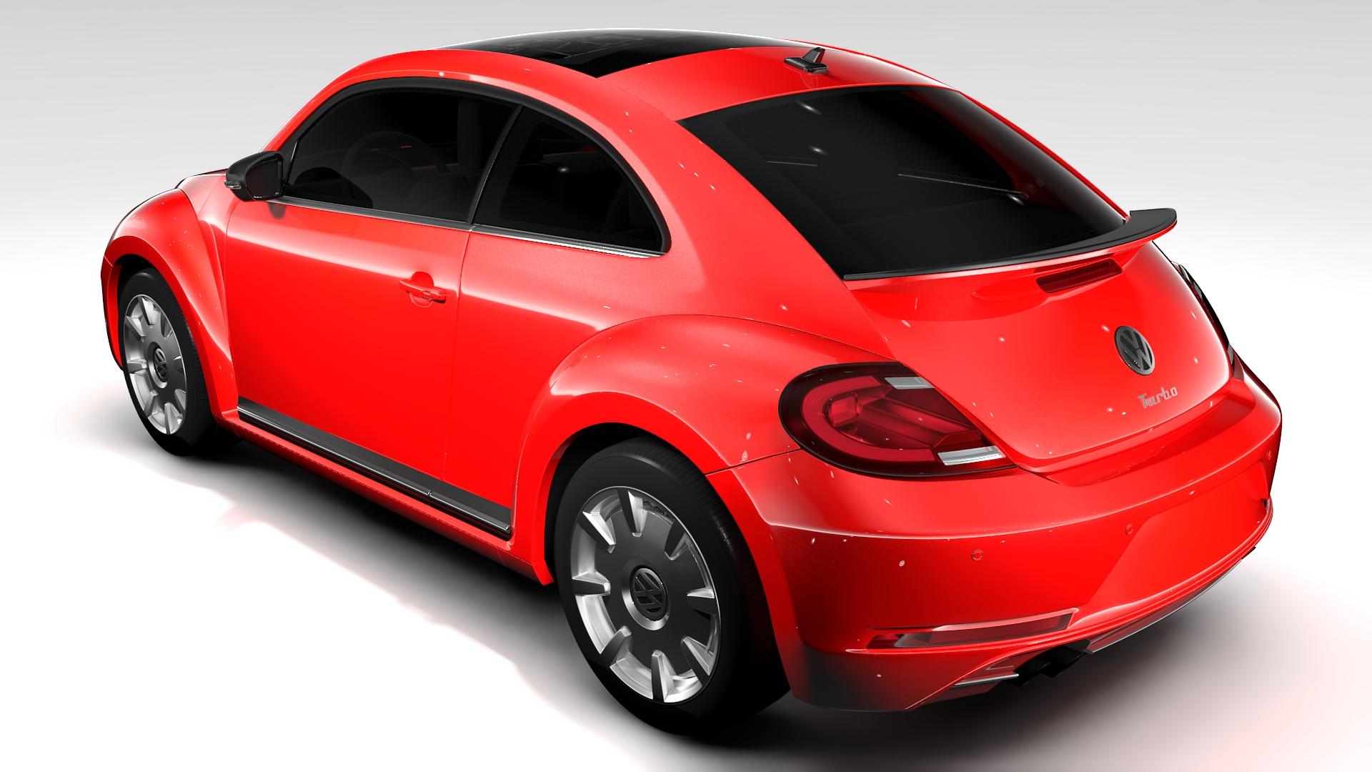 vw beetle turbo 2017 3d model 3ds max fbx c4d lwo ma mb hrc xsi obj 221663